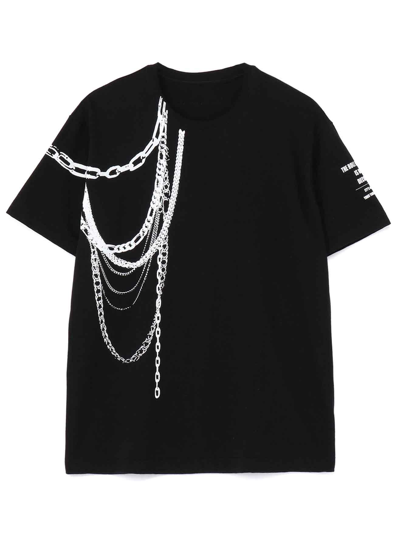 [ETY'S un Bijou] Aiguillette Chain Trompe-l'oeil T-shirt