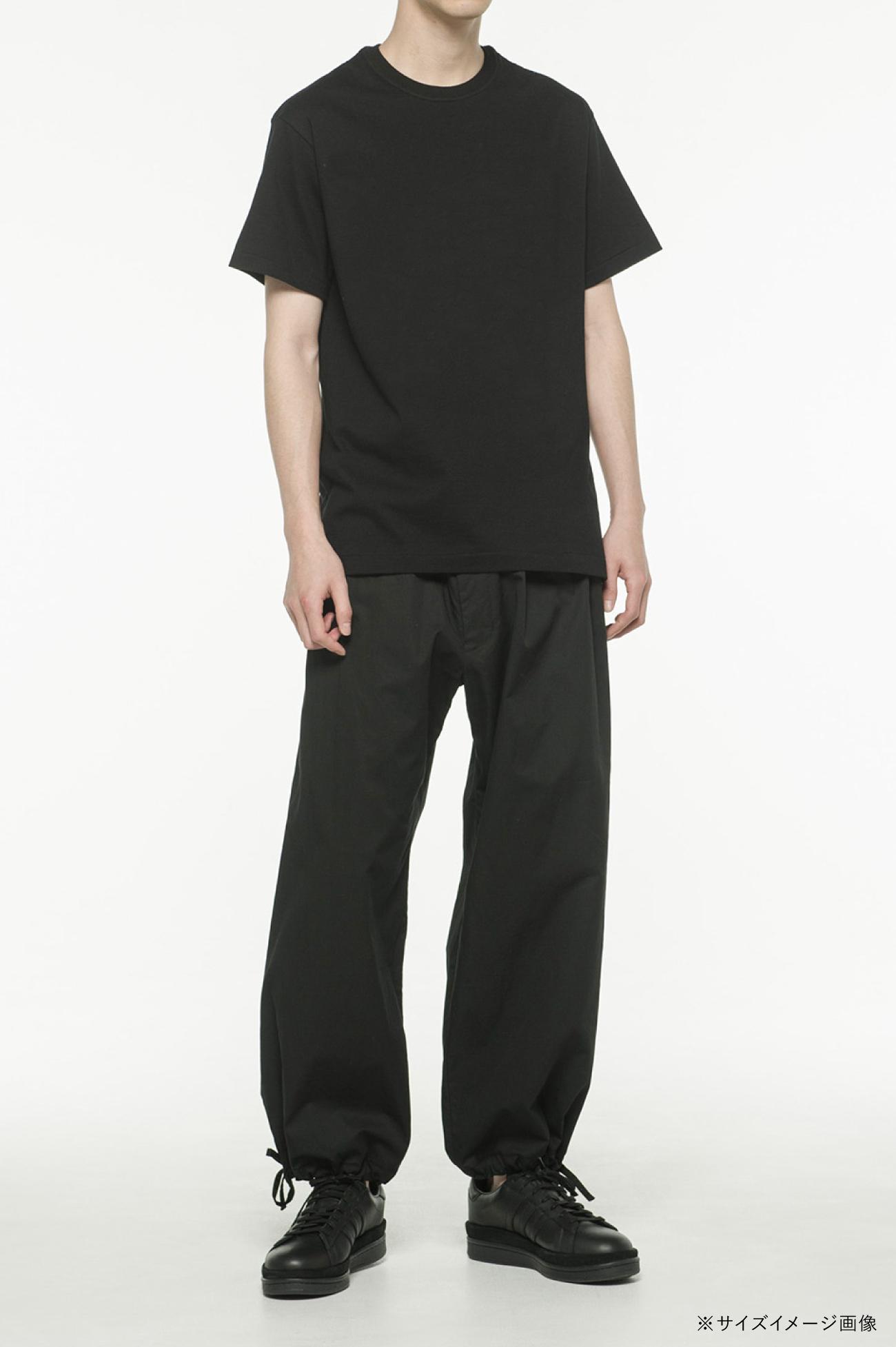 20/Cotton Jersey Black Shadow On Blue Peony T-Shirt