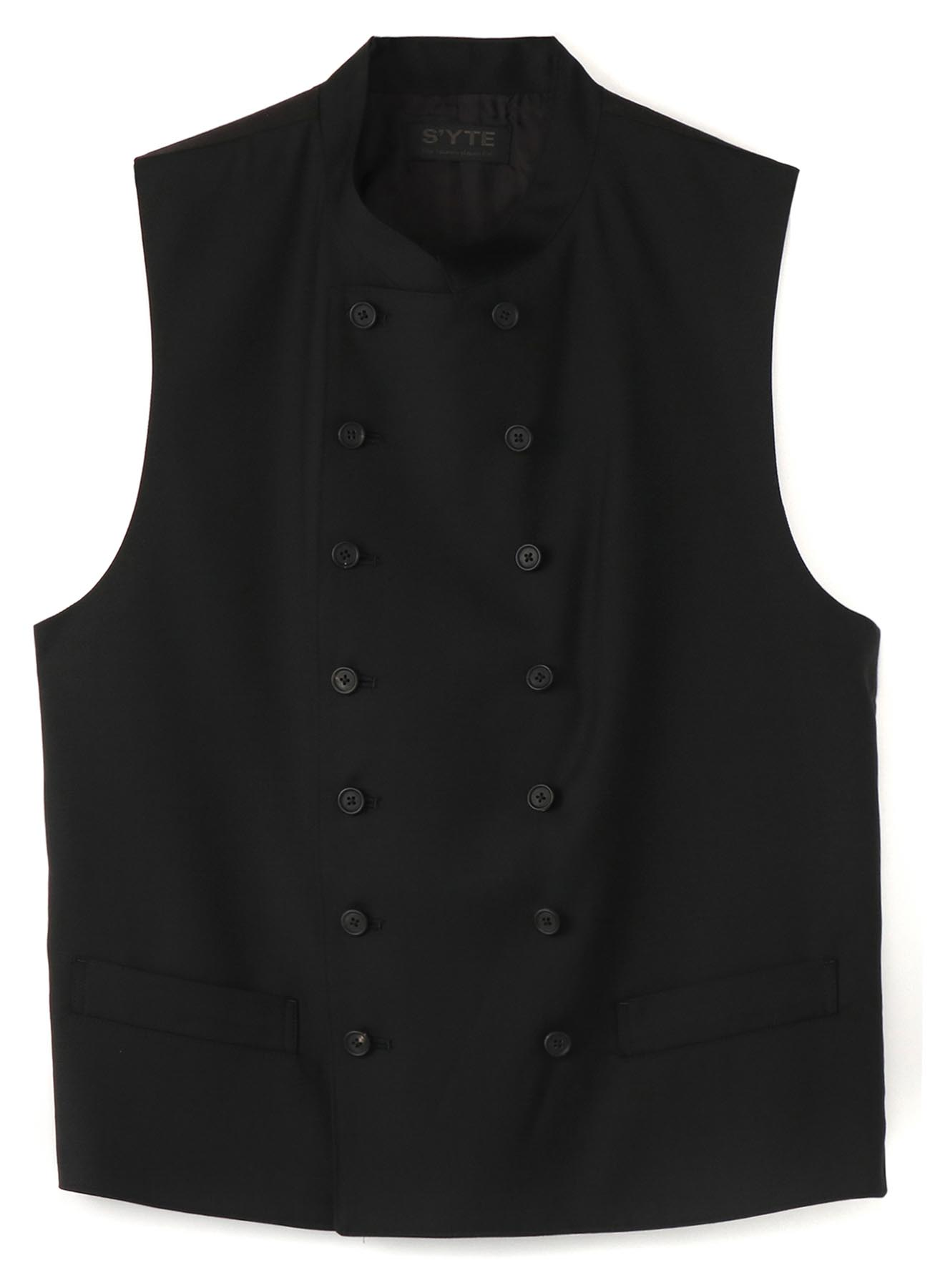 T/W Gabardine Washable stand Color Double Vest