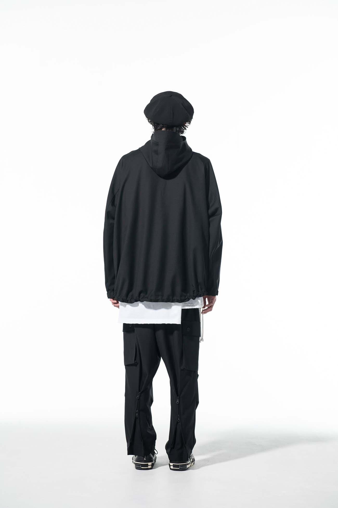 T/W Gabardine Washable Diagonal Zip Shell Jacket