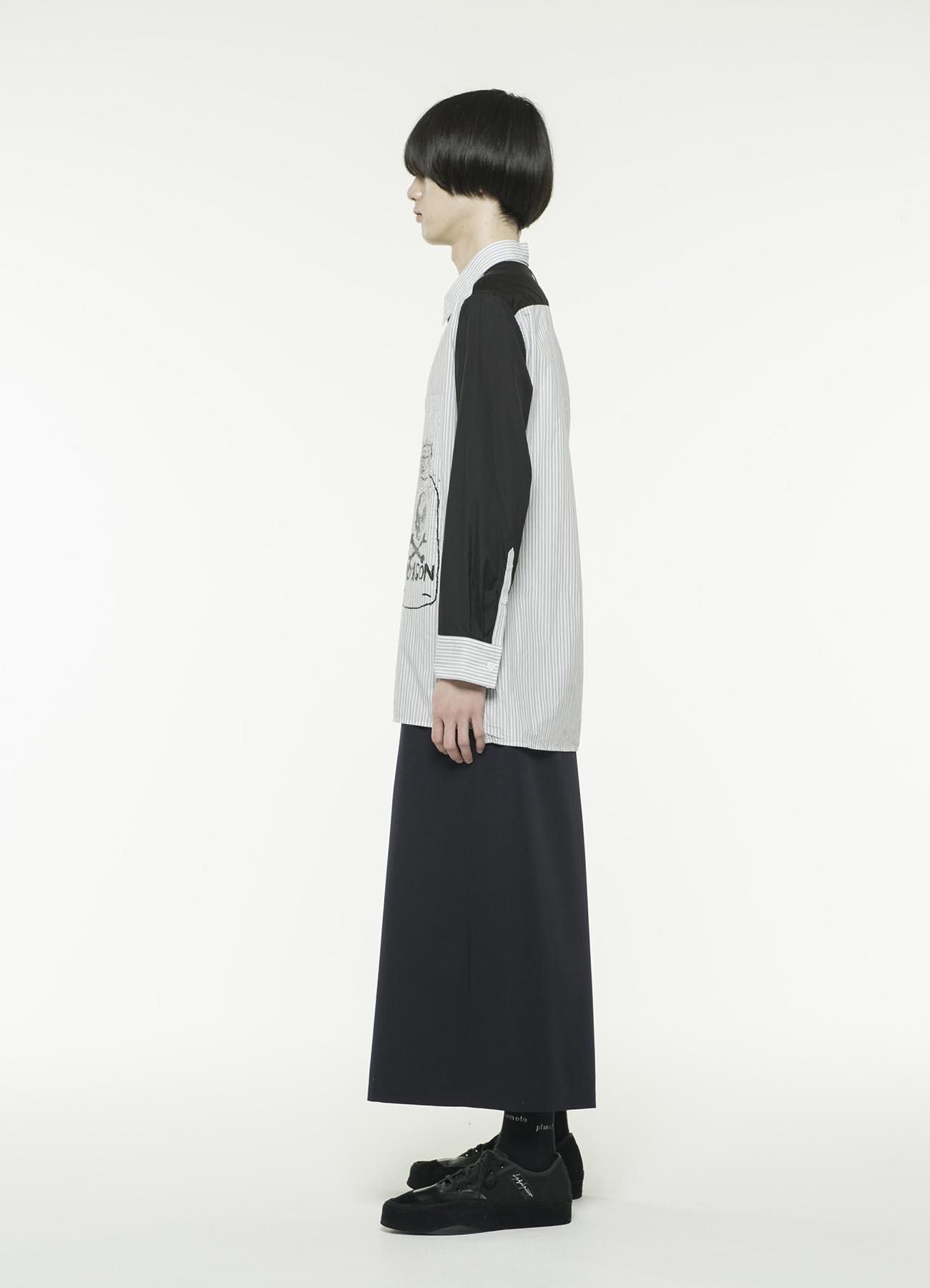 60 / - 条纹×100/2细平纹组合毒药瓶骷髅衬衫