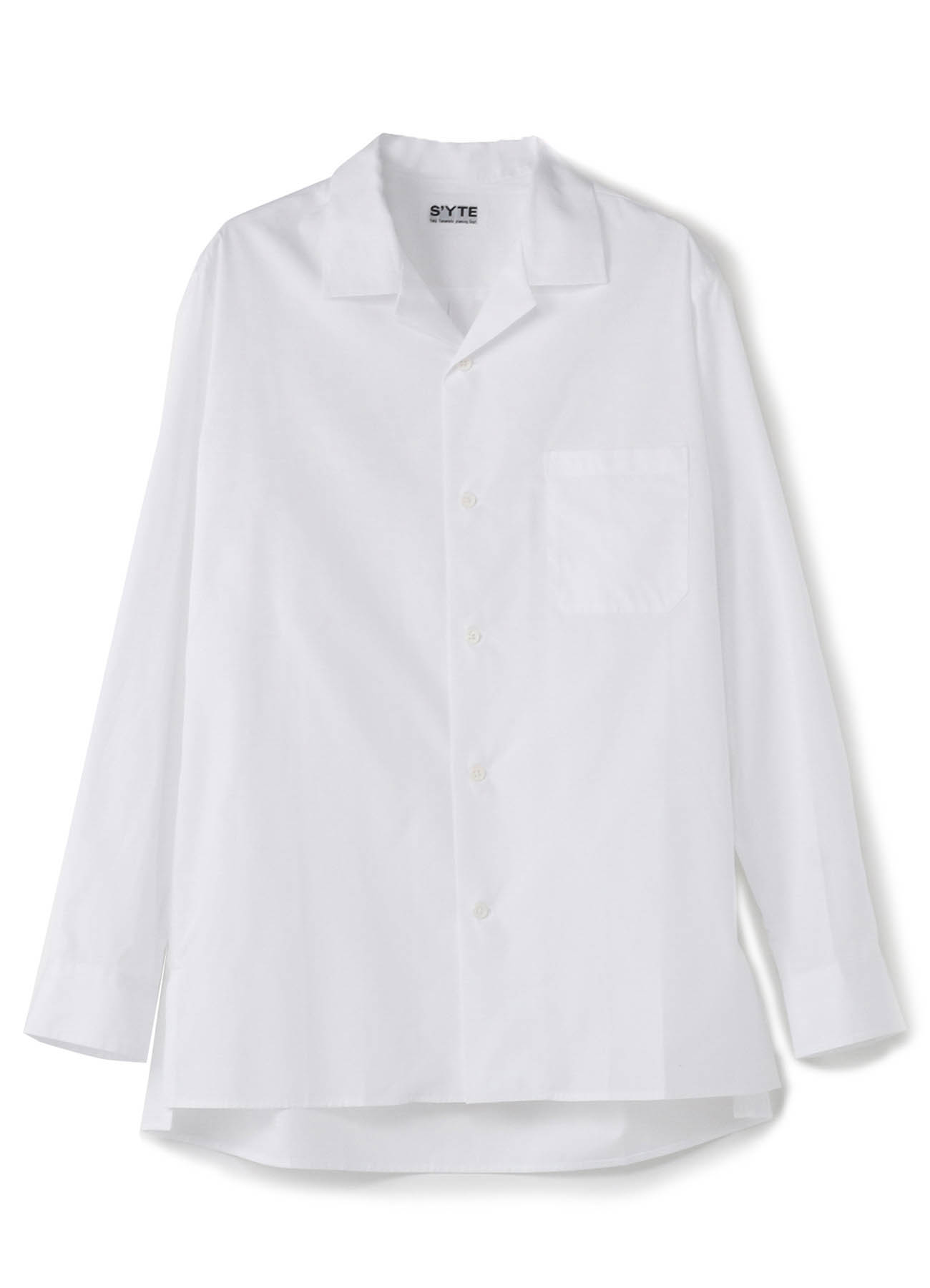 100/2 Broad Open Collar Shirt