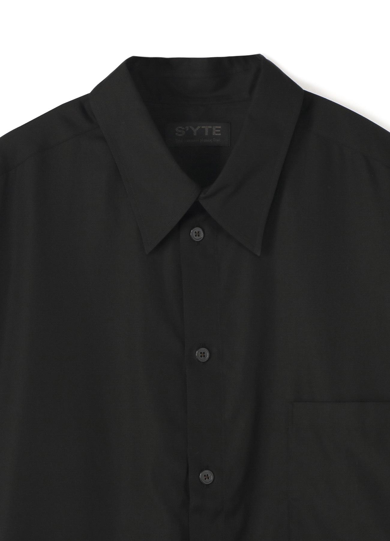 开襟长款宽松衬衫