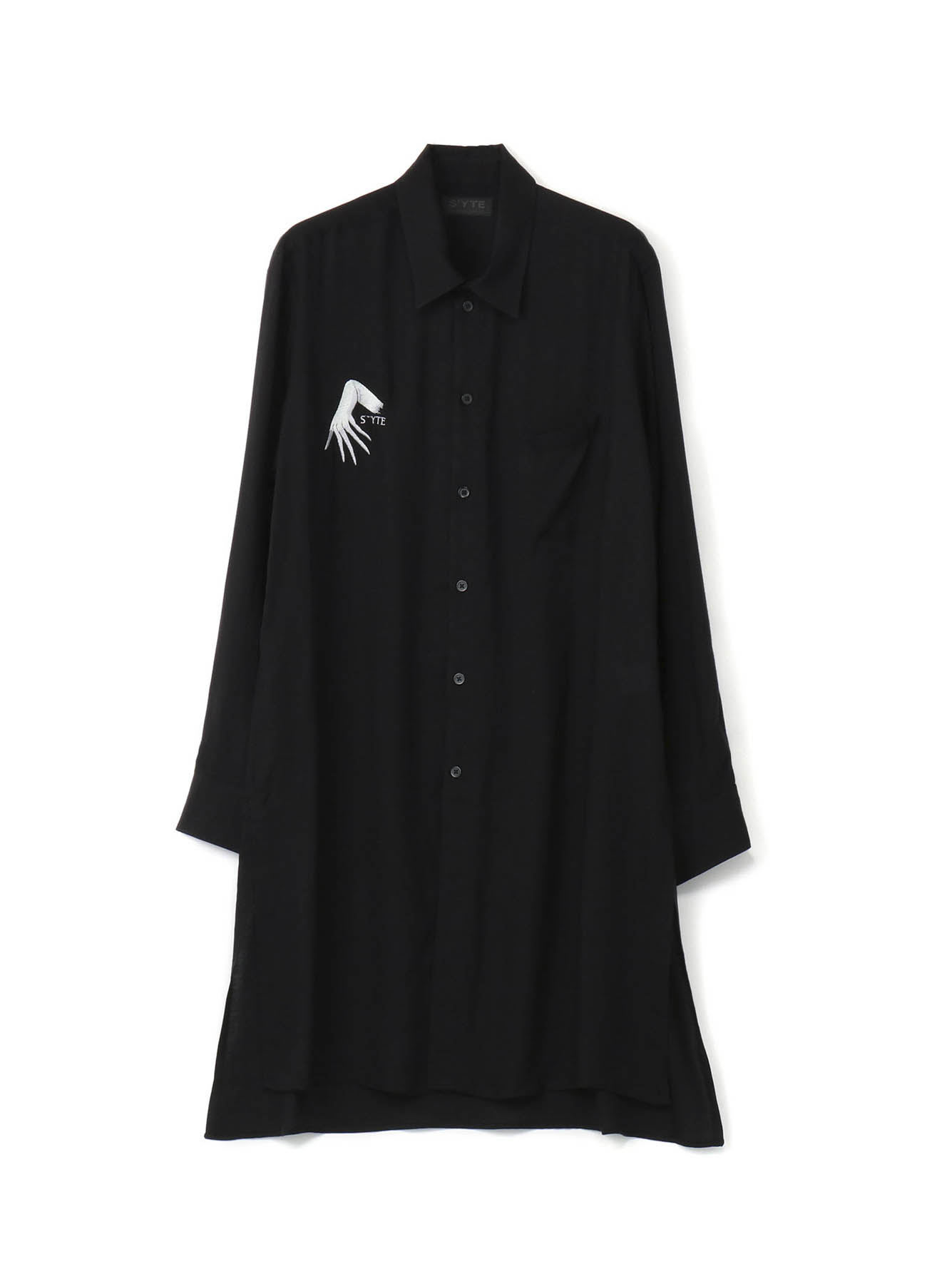 Tencel Vieira The Hands of The Ghost Embroidery Long Shirt