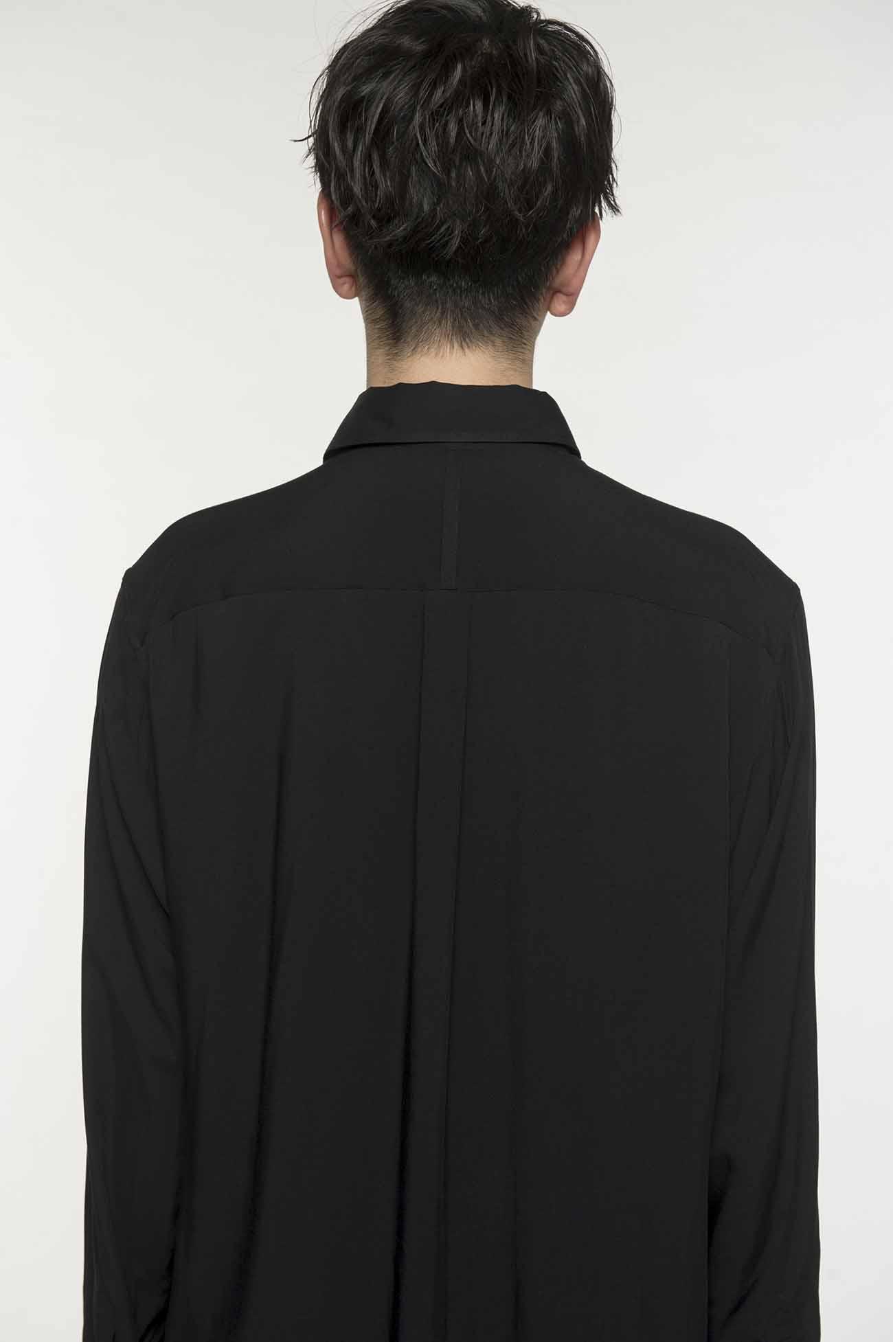人造丝长款衬衫