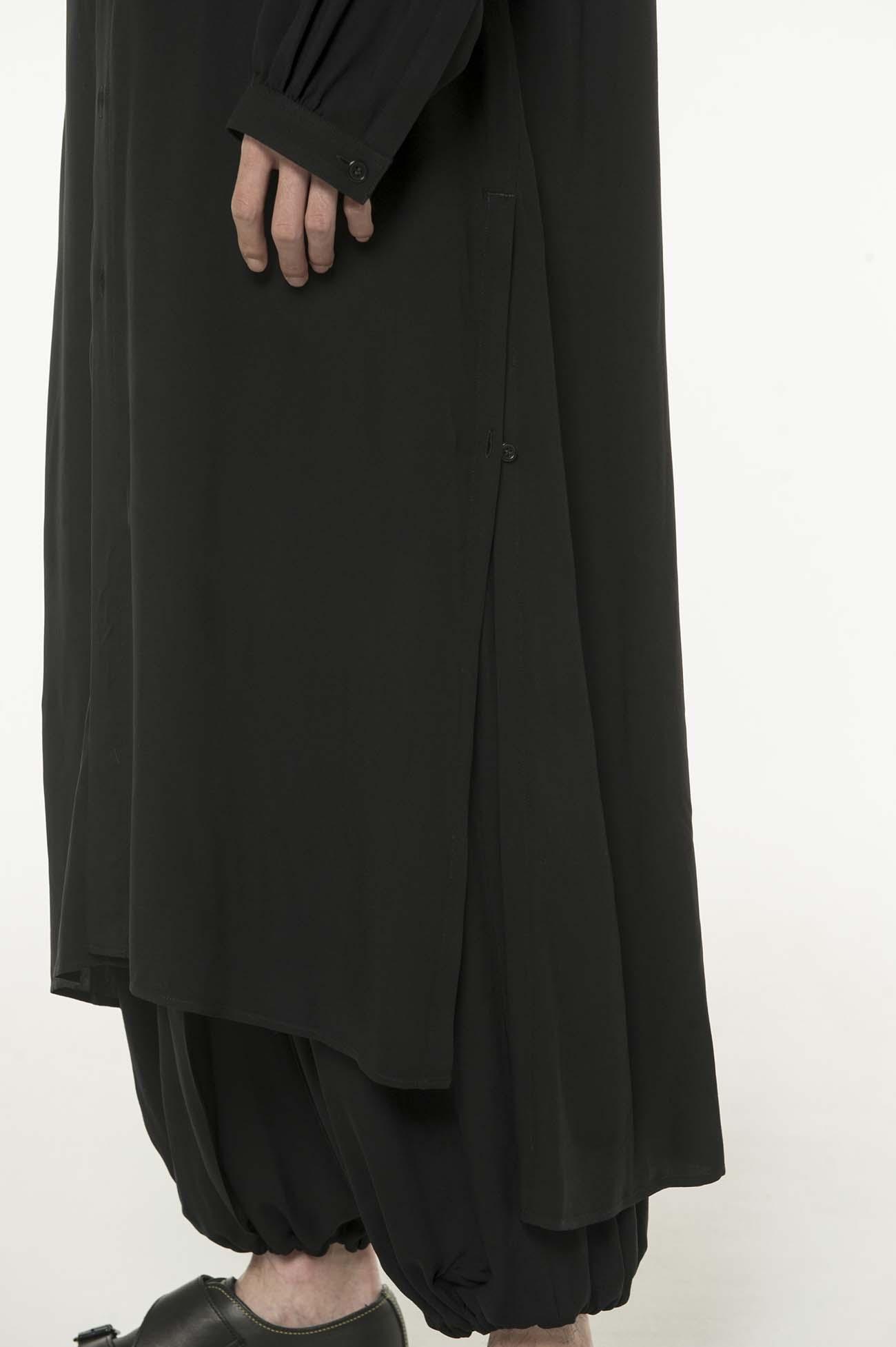 60s Ry/Span Twill Washer Regular Color Super Long Shirt Dress