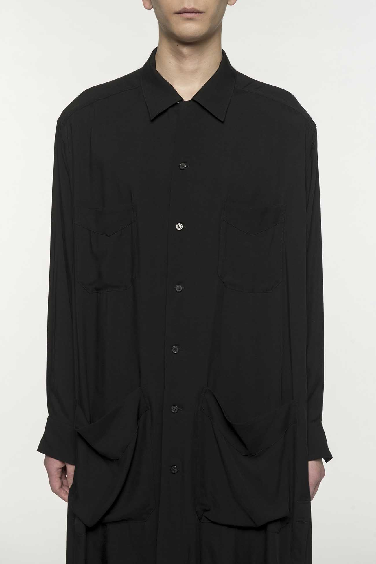 60s Ry/Span Twill Washer 4 Pocket Open Long Shirt