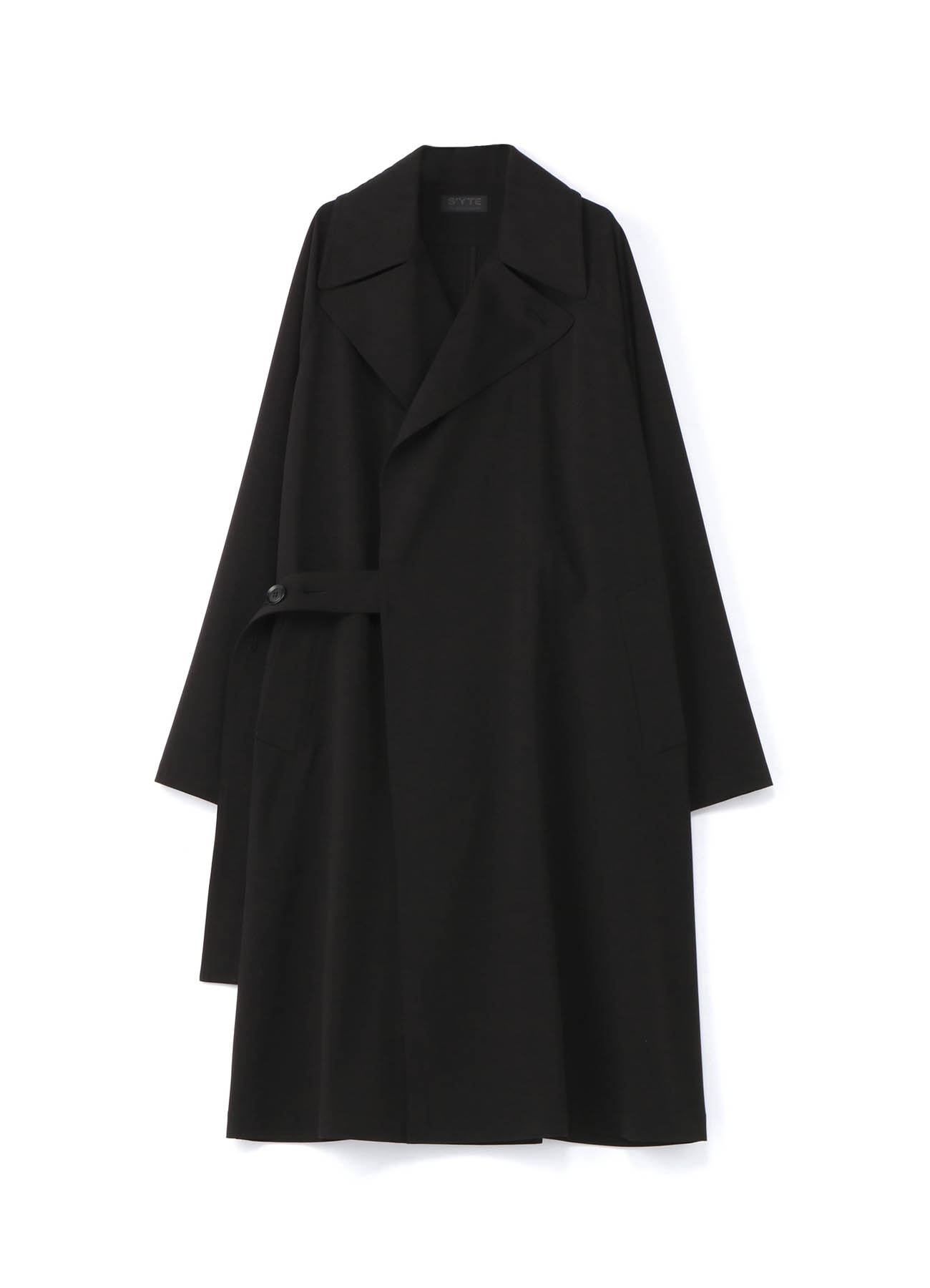 Pe/Rayon Gabardine Stretc Tielocken Coat