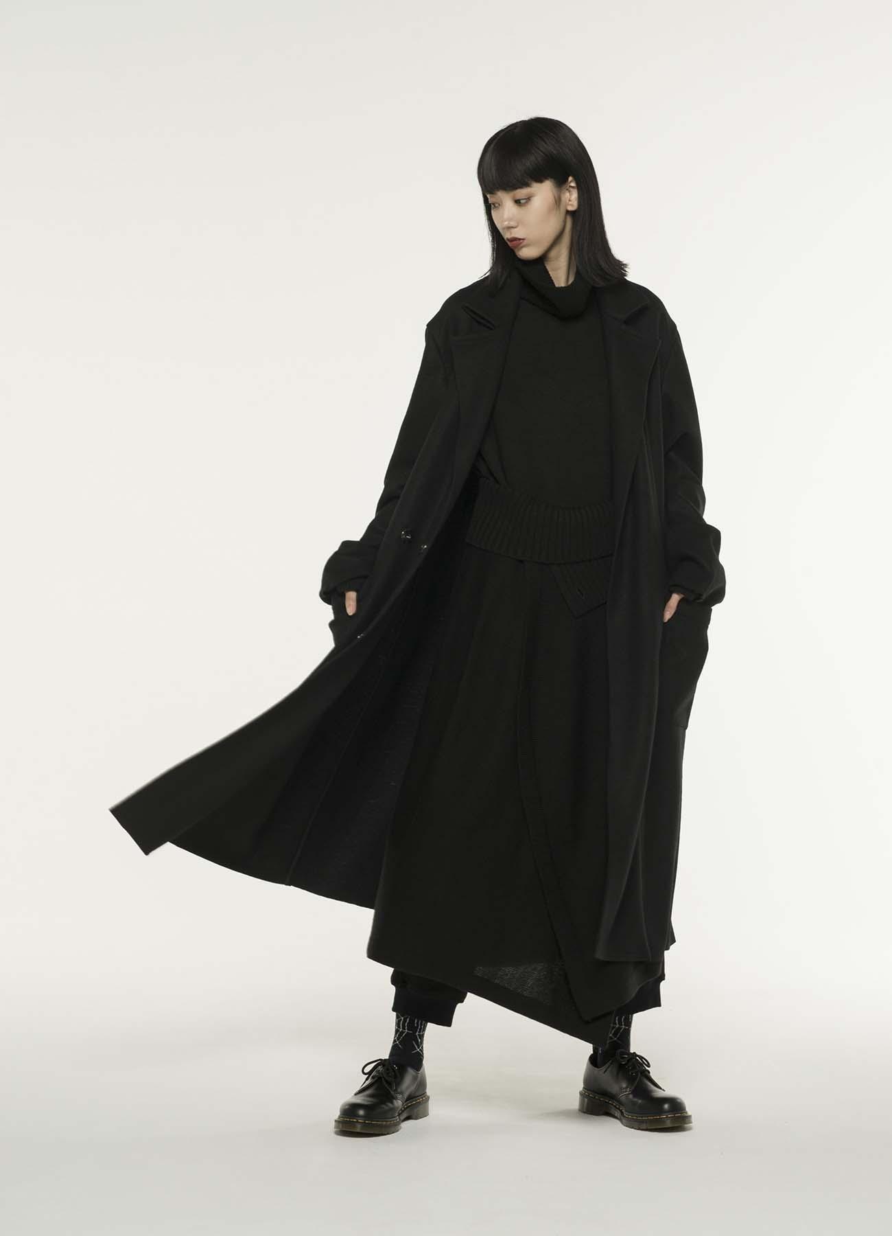 Compression Wool Semi Double Cuts Collar Tailored Coat