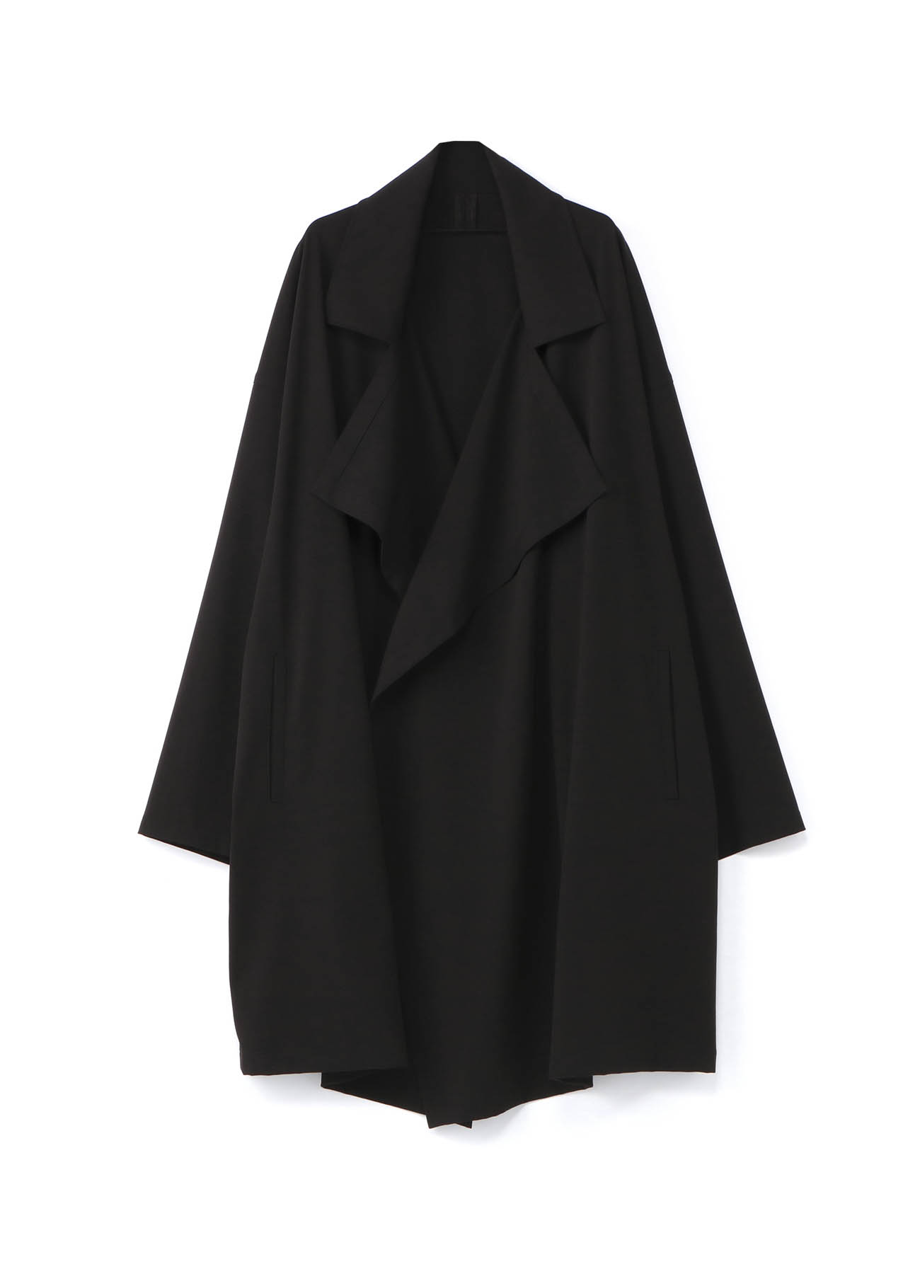 Pe/Rayon Gabardine Stretch Frame Double Collar Drape Coat