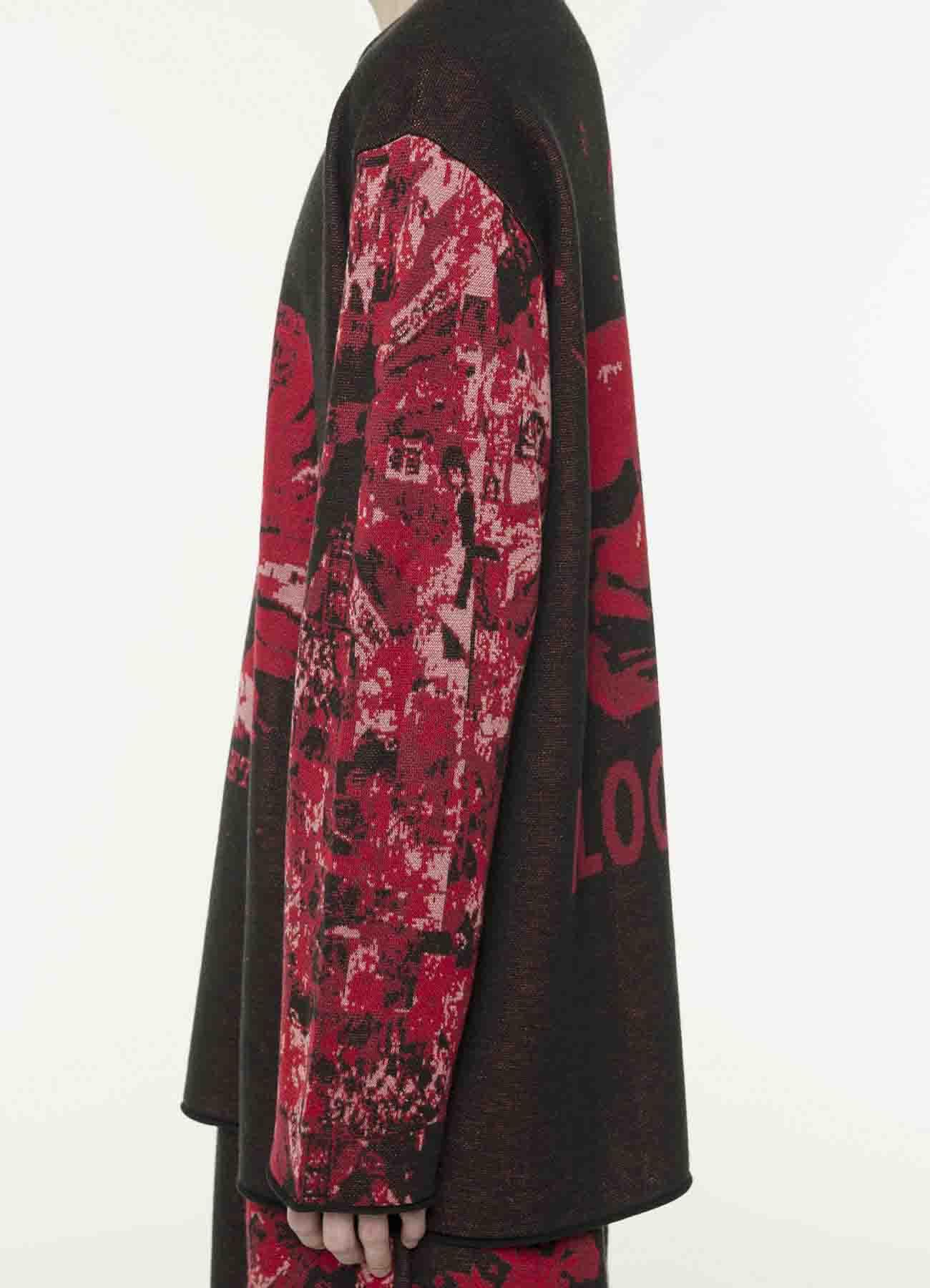 Red Shock系列-提花针织衫-红/黑