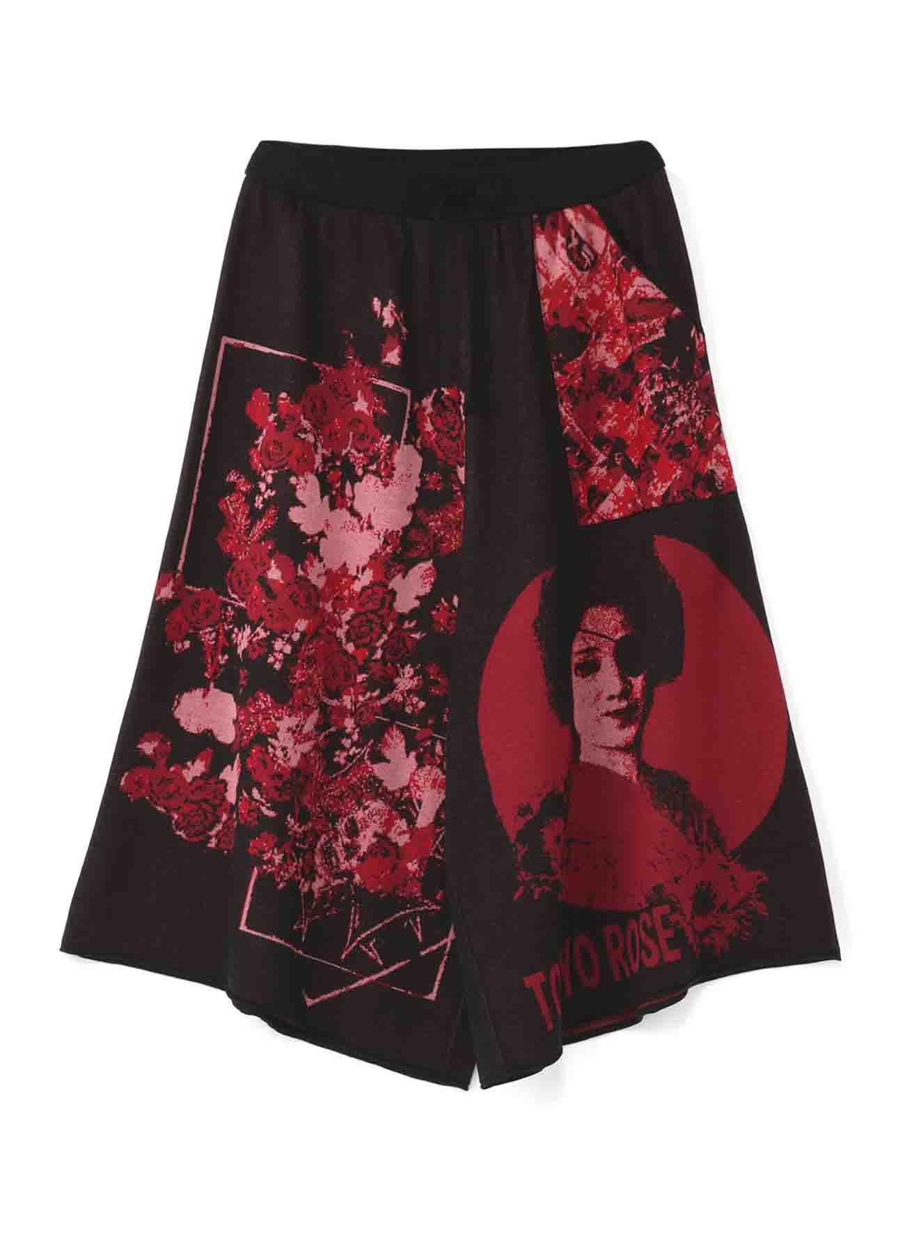 Hameauze 提花针织图案全功能裙裤