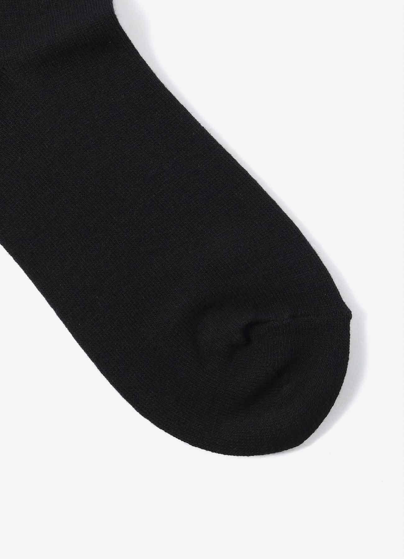 Cottonp Plain Stitch Logo袜子