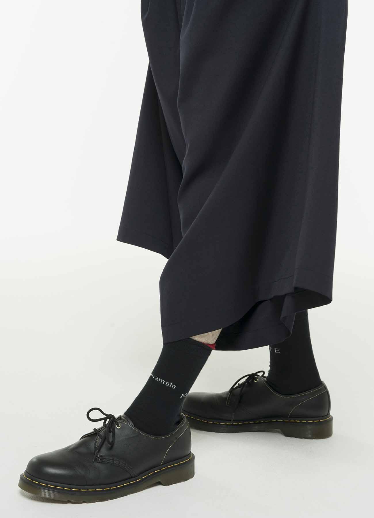 Cottonp Plain Stitch Logo Socks