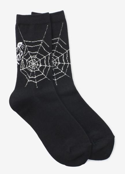 纯棉平针蜘蛛网袜