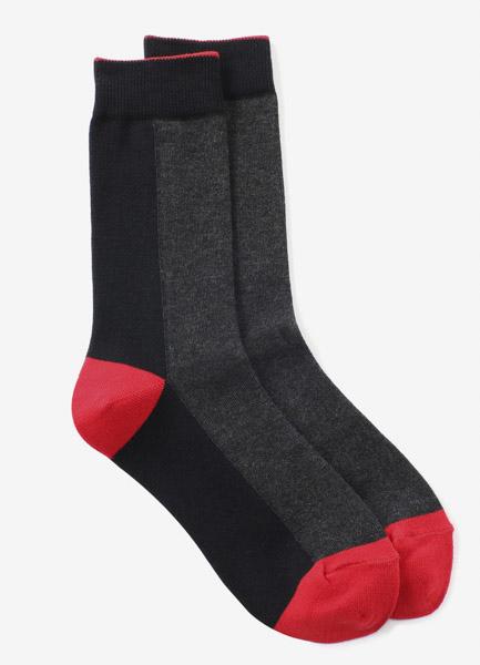 纯棉平针缝色袜