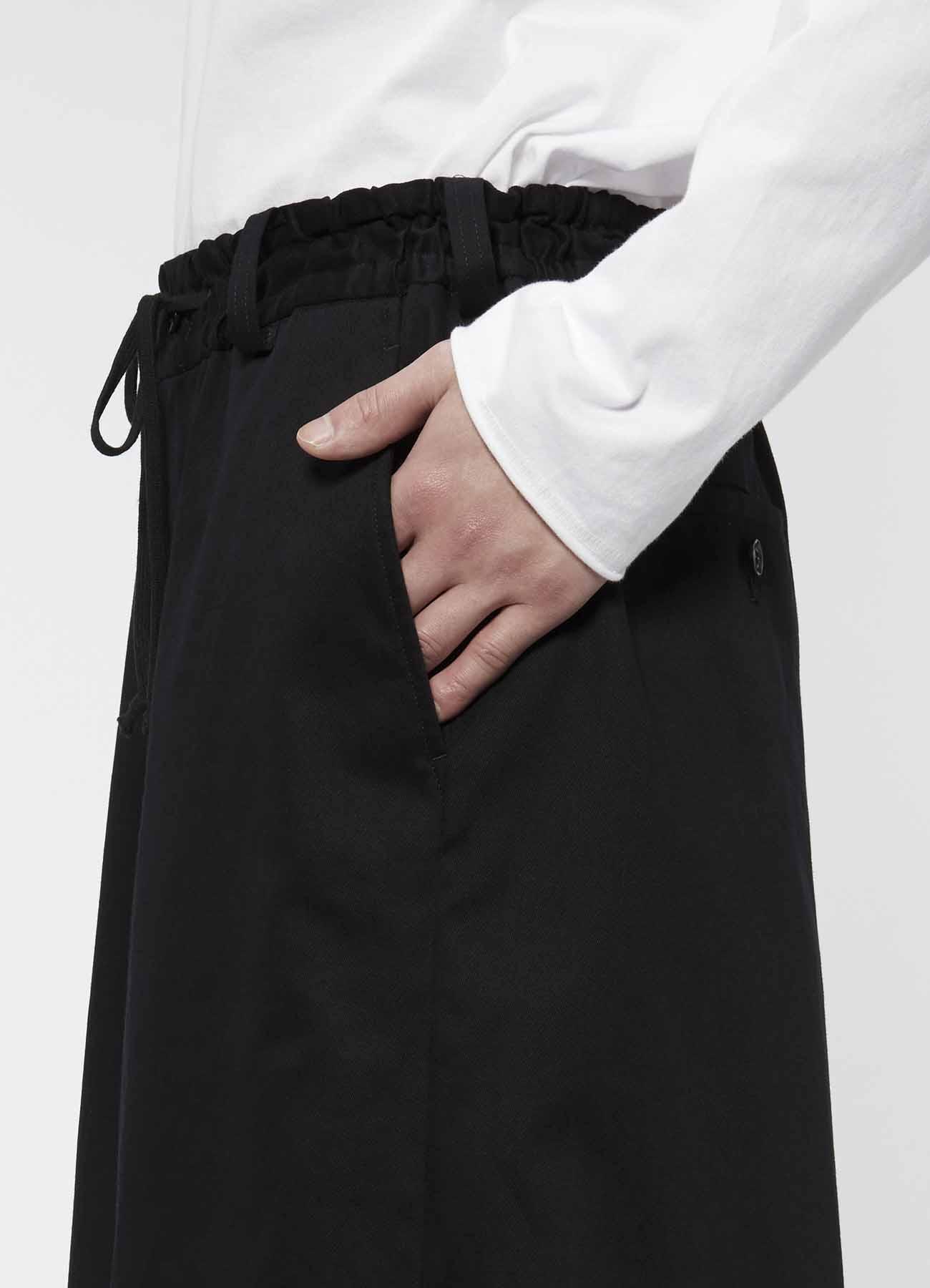 斜纹棉布抽绳灯笼裤(前摆和风袴设计)