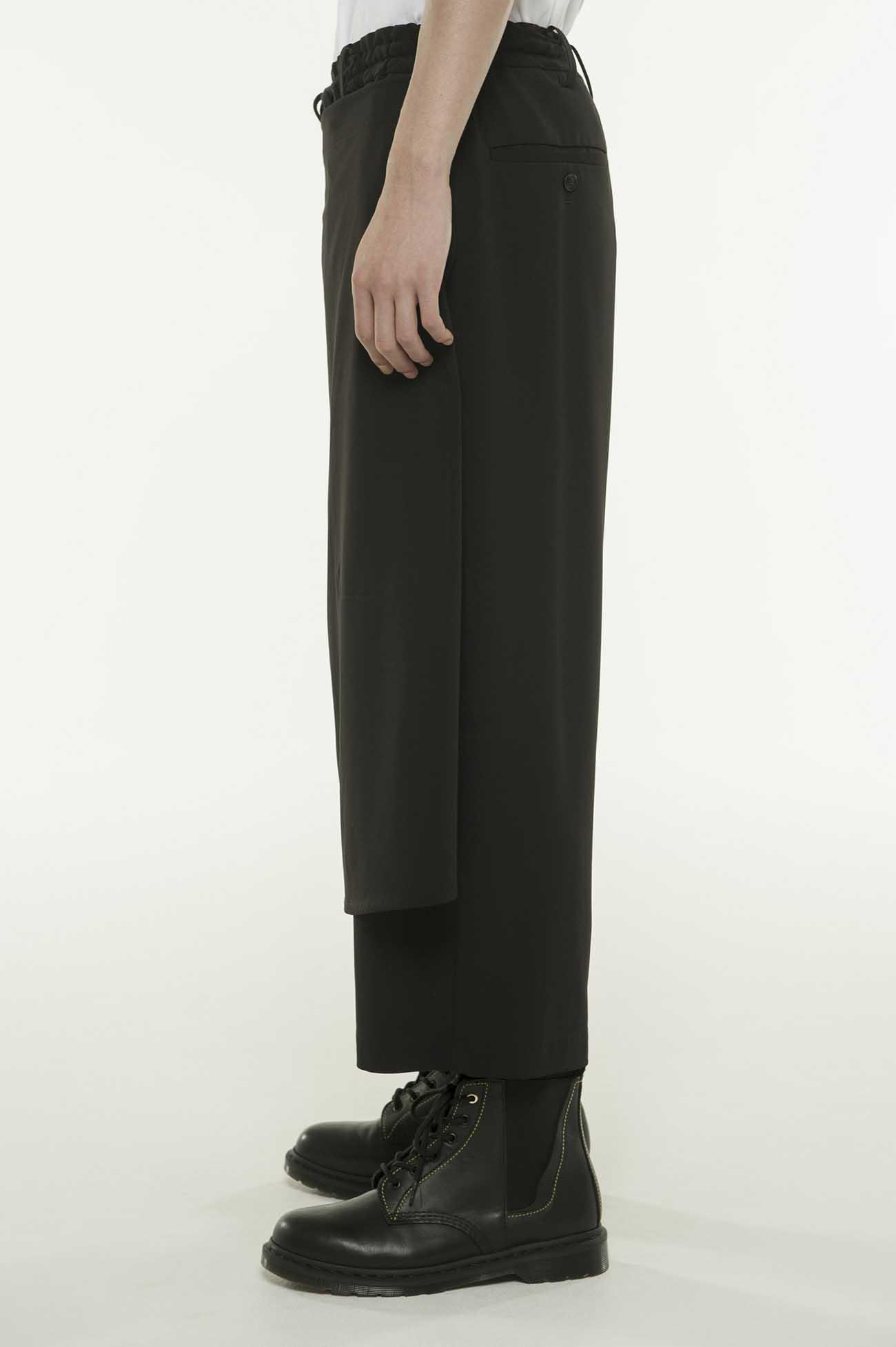 Pe/Rayon Gabardine StretchWrap Cropped Pants