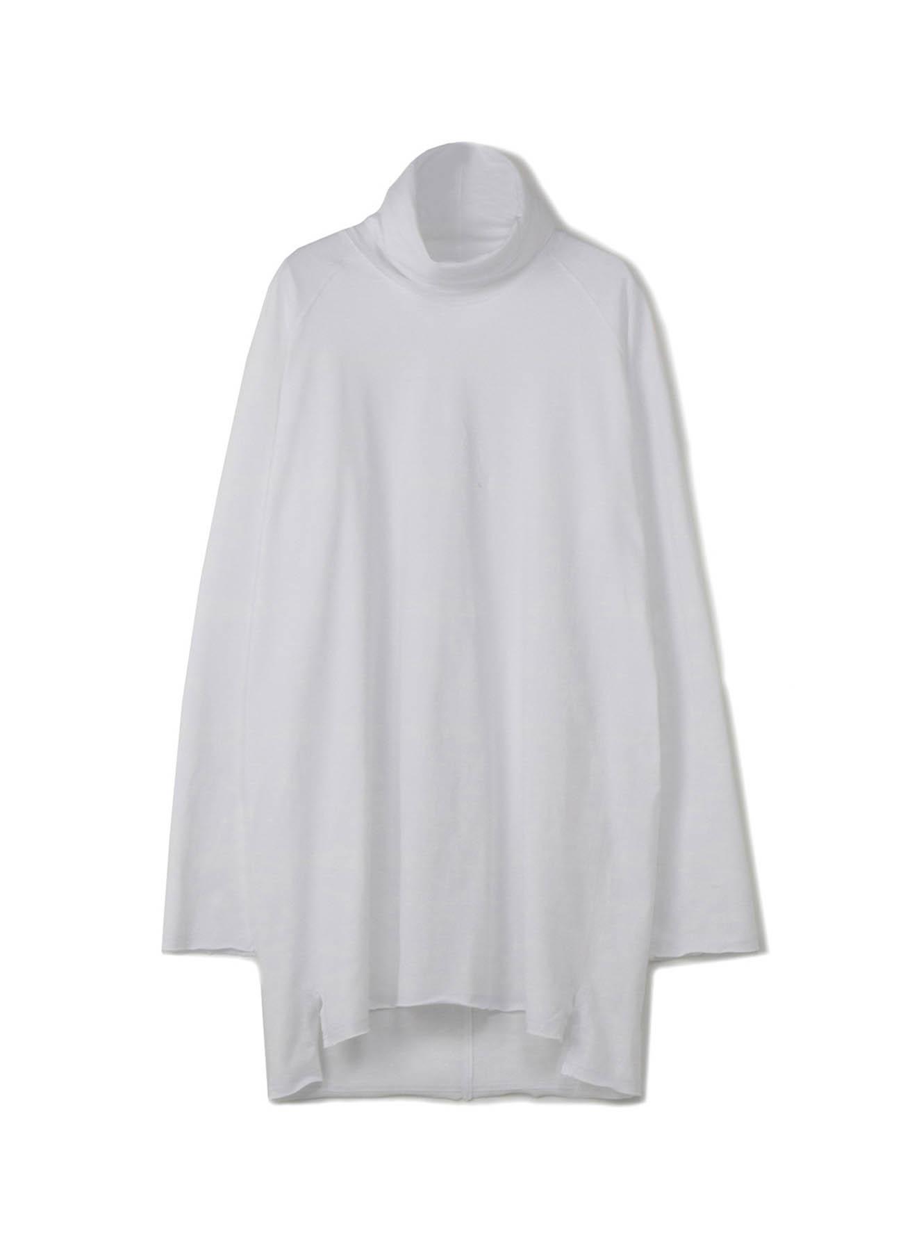 40/2纯棉针织插肩大脖高领