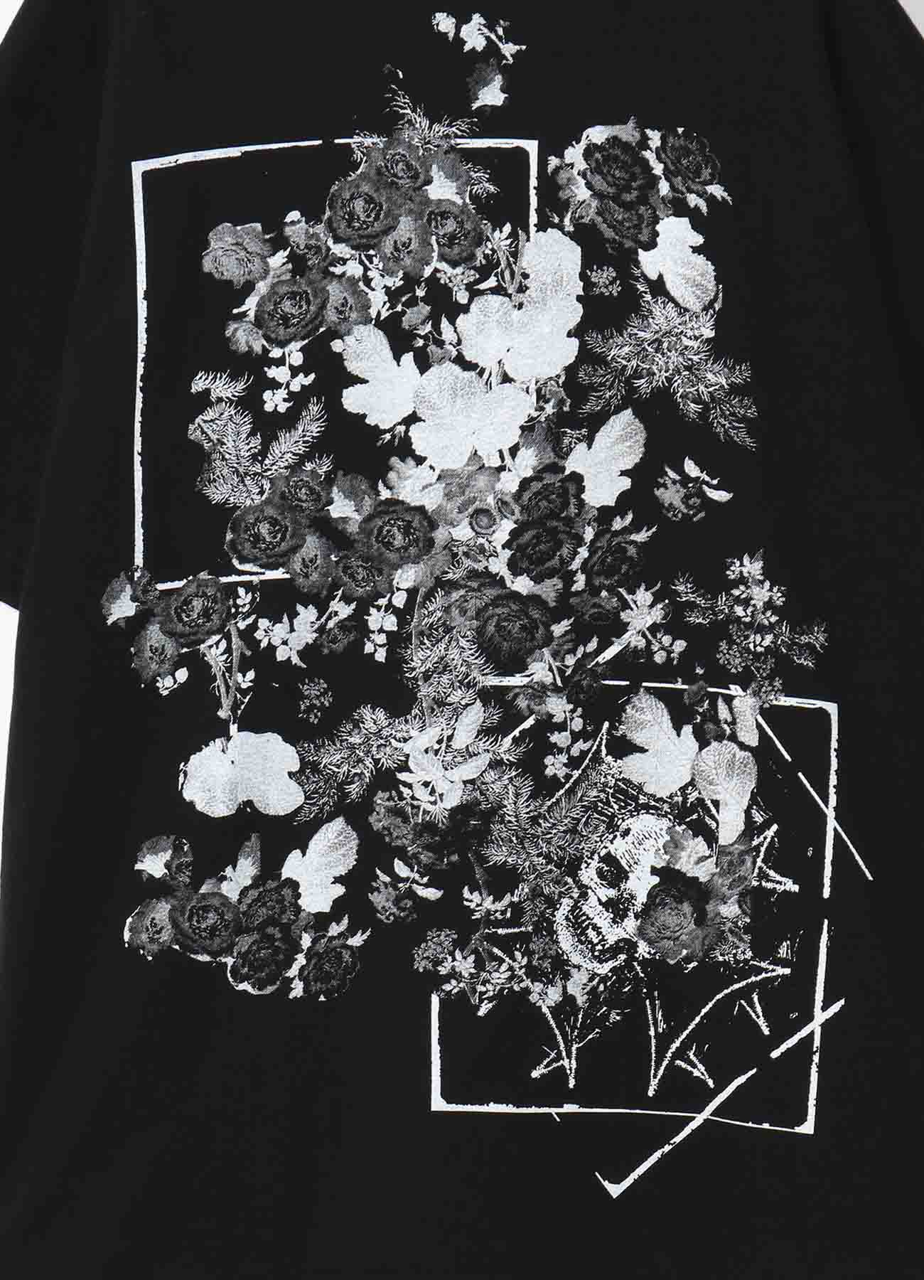 20/CottonJersey A lot of flowers and Skull T-shirt