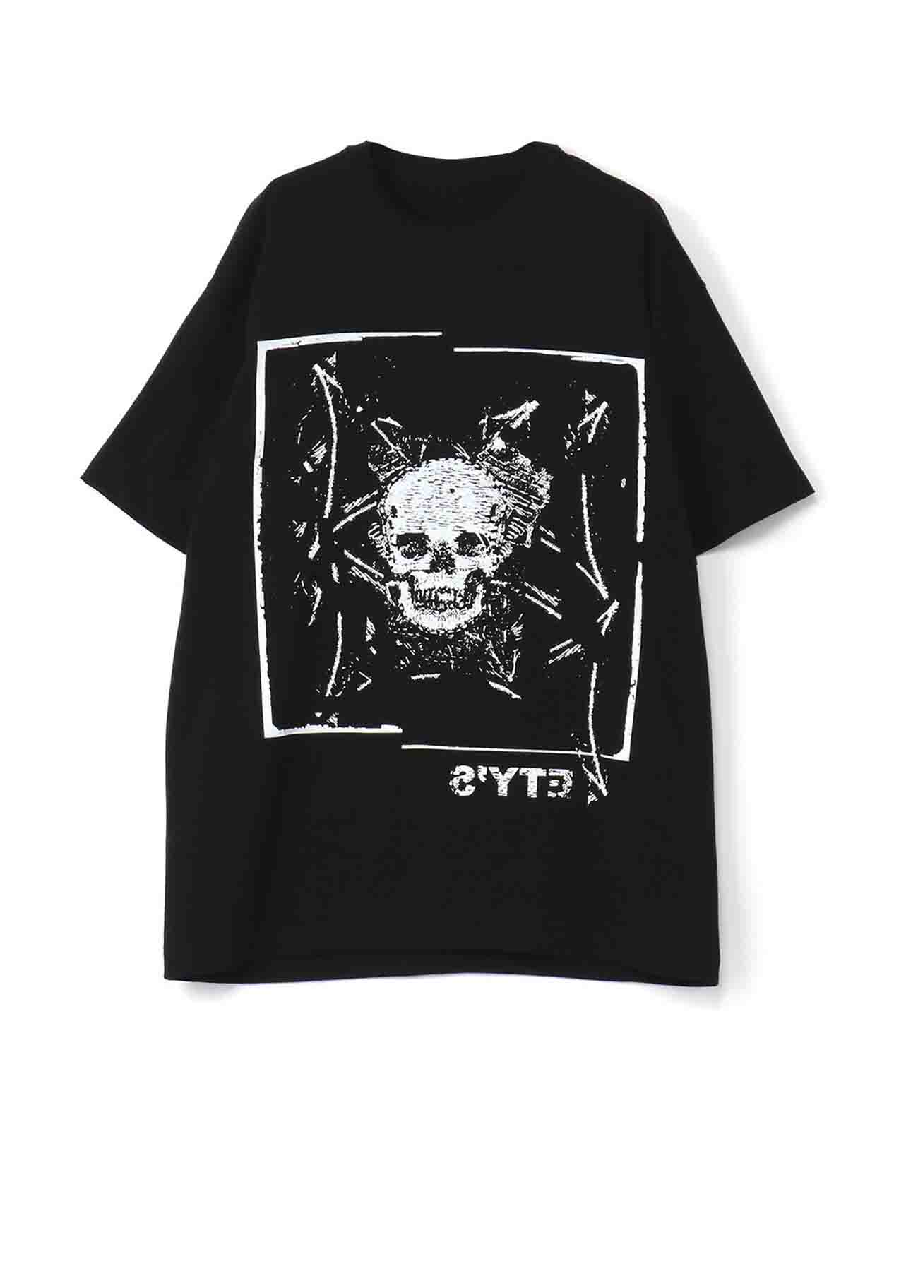 20/Cotton Jersey Carving Skull T-shirt