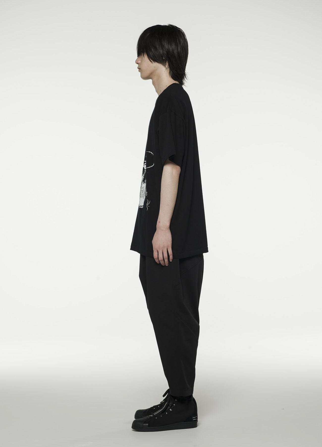 20/CottonJersey Silk hat Skull T-shirt