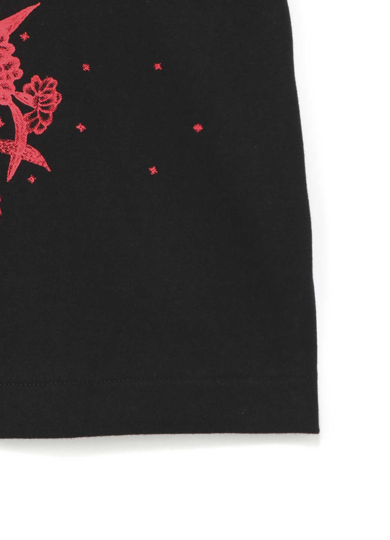 20/CottonJersey Batik Flower Heart T-Shirt