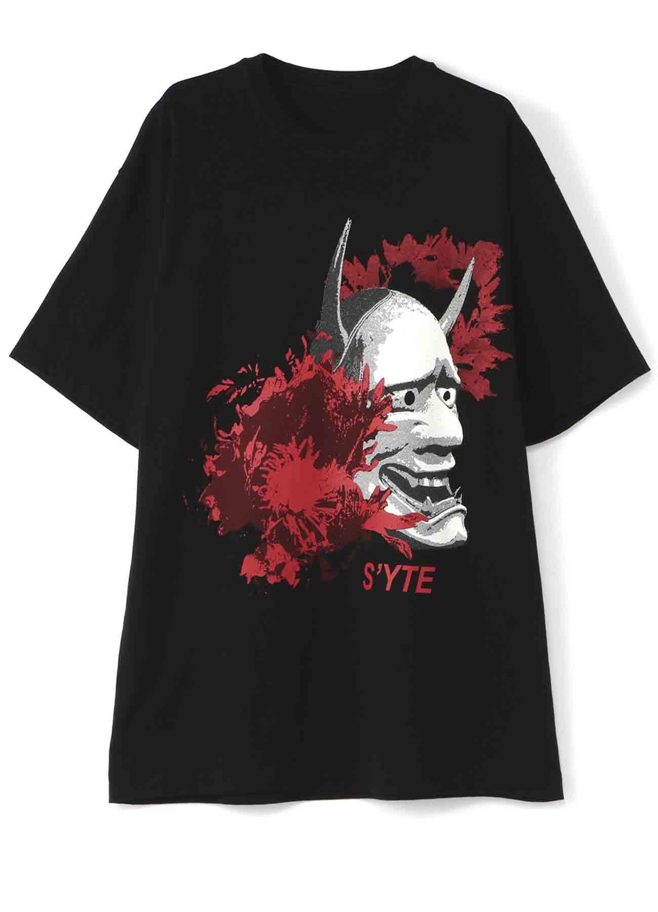 Mask of hannya flowers T恤