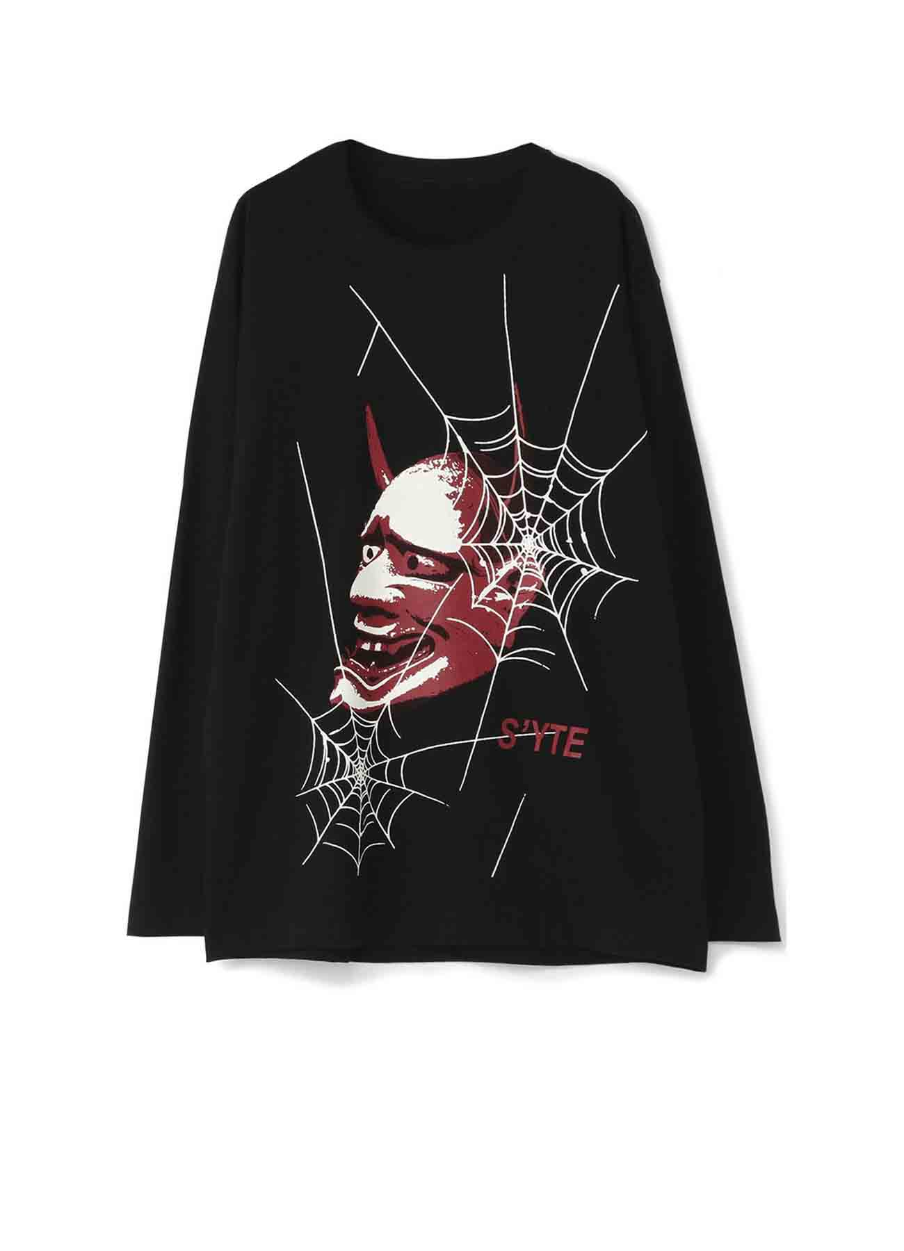 20/CottonJersey Mask of Hannya SpiderWeb Long Sleeve T-Shirt