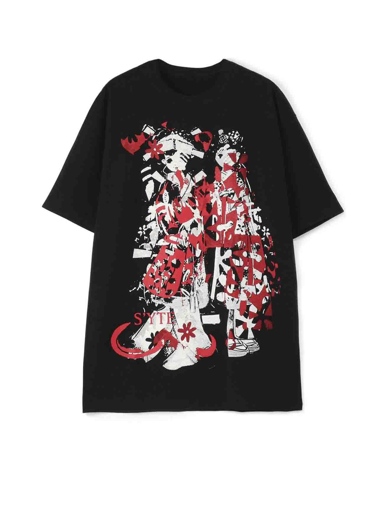 20/CottonJersey Dress Kimono Paper Doll T-Shirt
