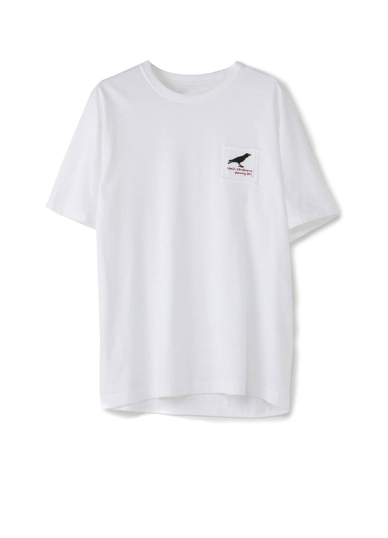 Black crow embroidered T-shirt