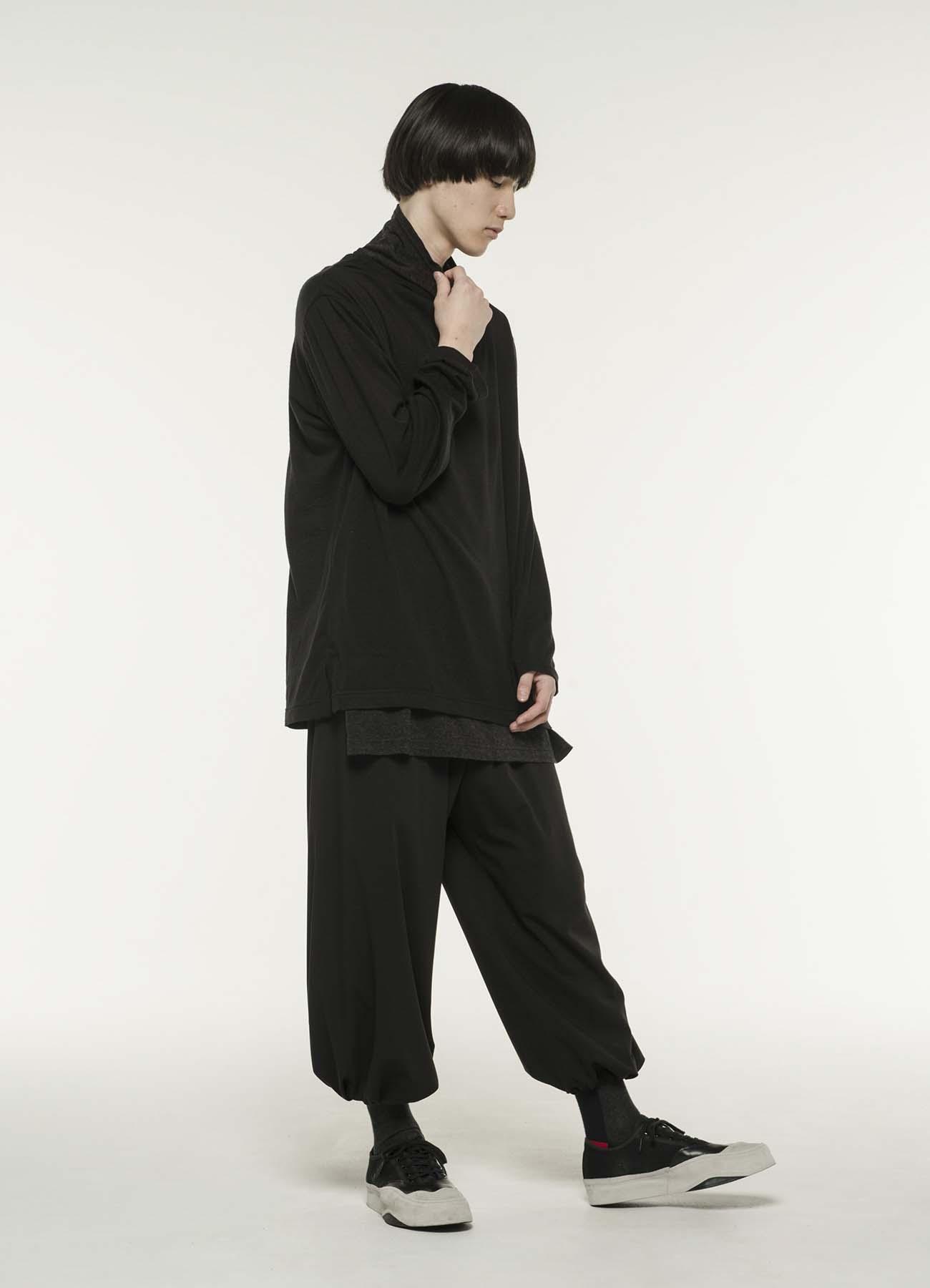 羊毛腈纶細平紋套头衫