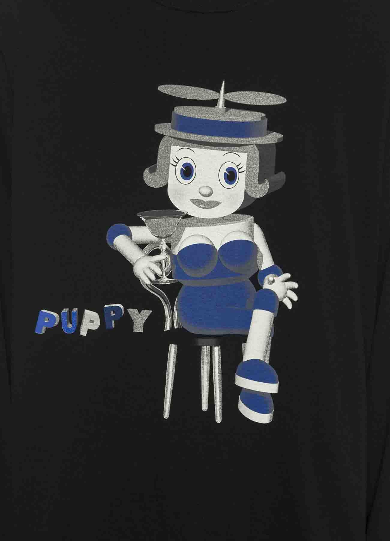 "昭和SF复古T恤-""Cocktail Puppy"""
