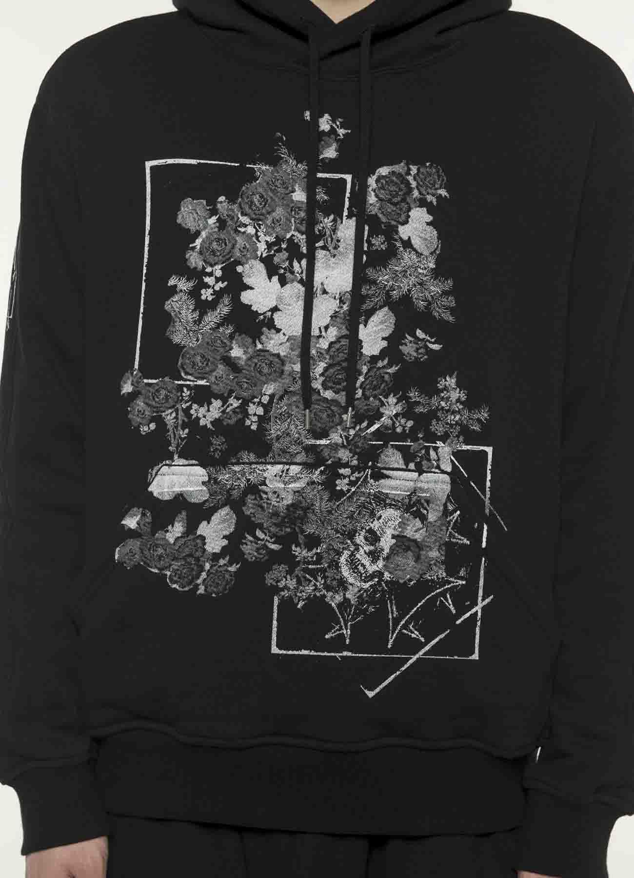 """""""骷髅与花朵""""连帽衫"""