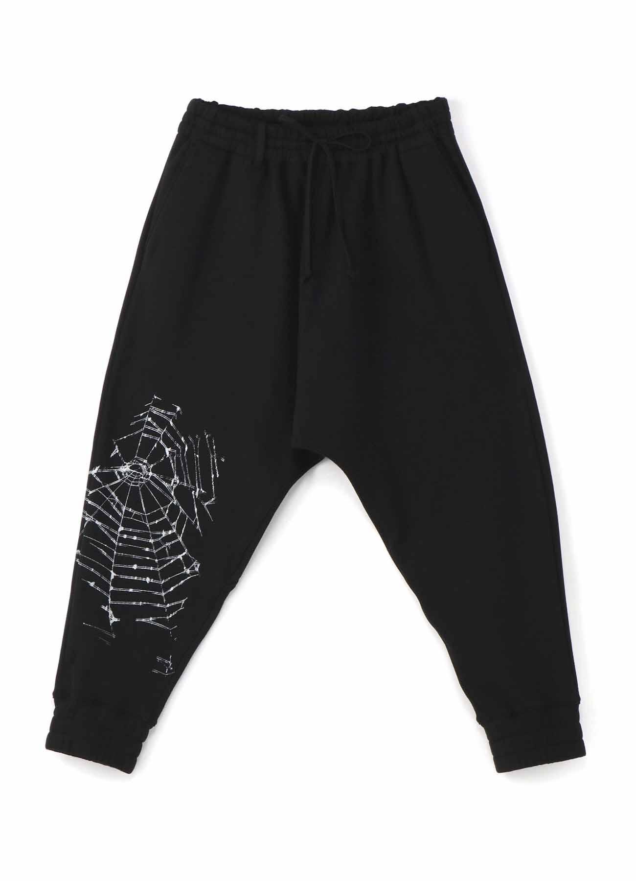 卫衣布缝线蜘蛛网螺纹裤