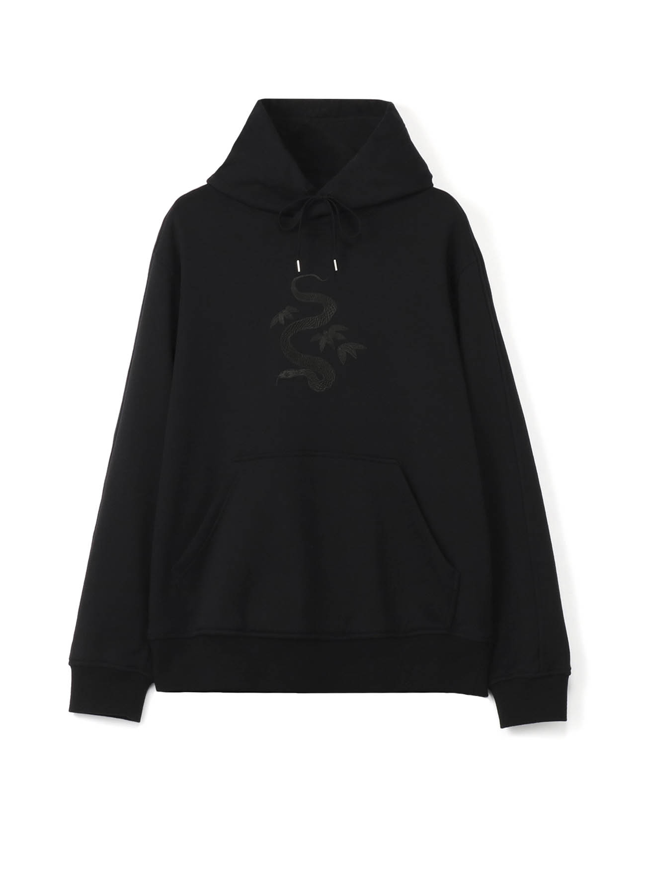 French Terry Stitch Work The Three Snake-Leaves Embroidery Hoodie