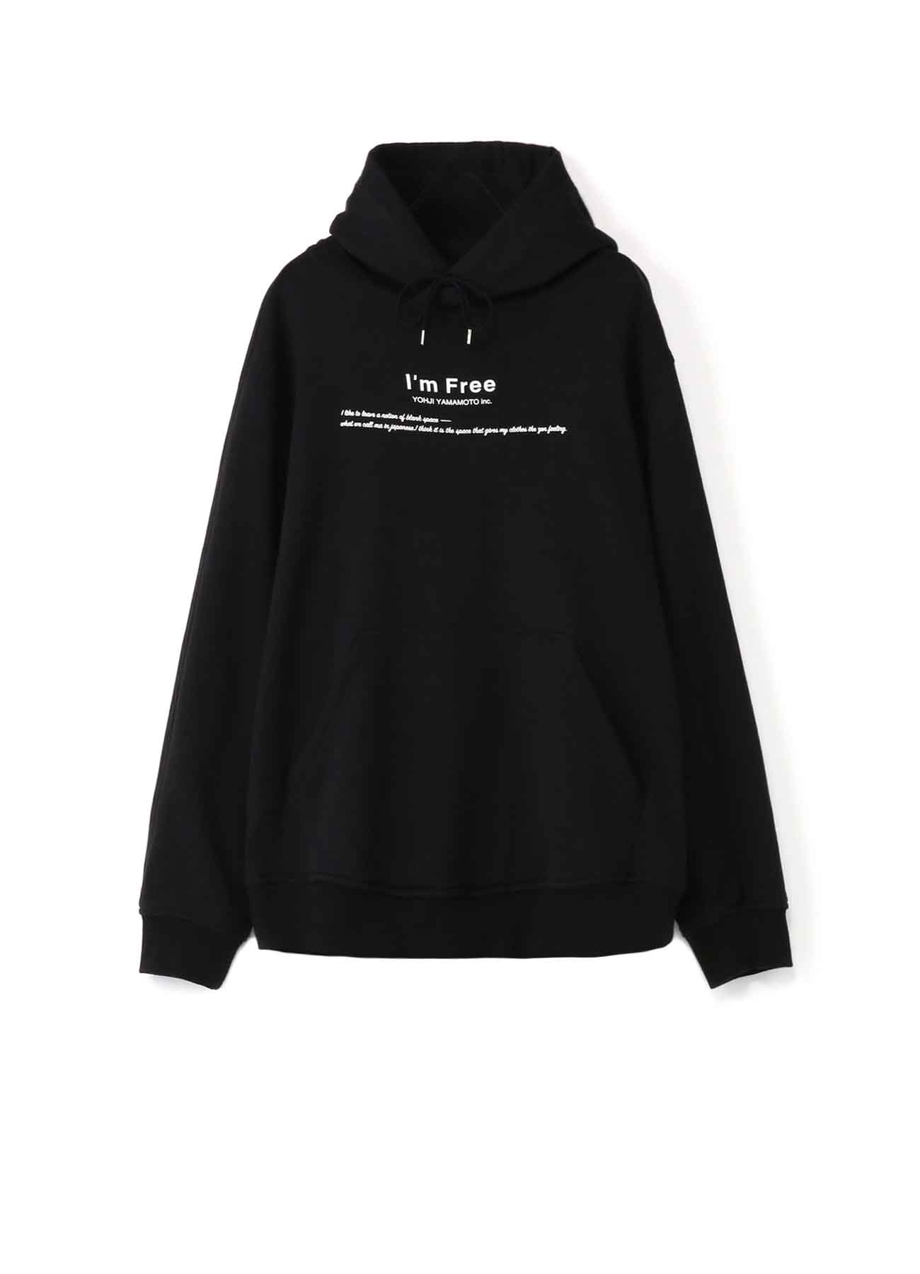 French Terry Stitch Work I'm Free Message Hoodie
