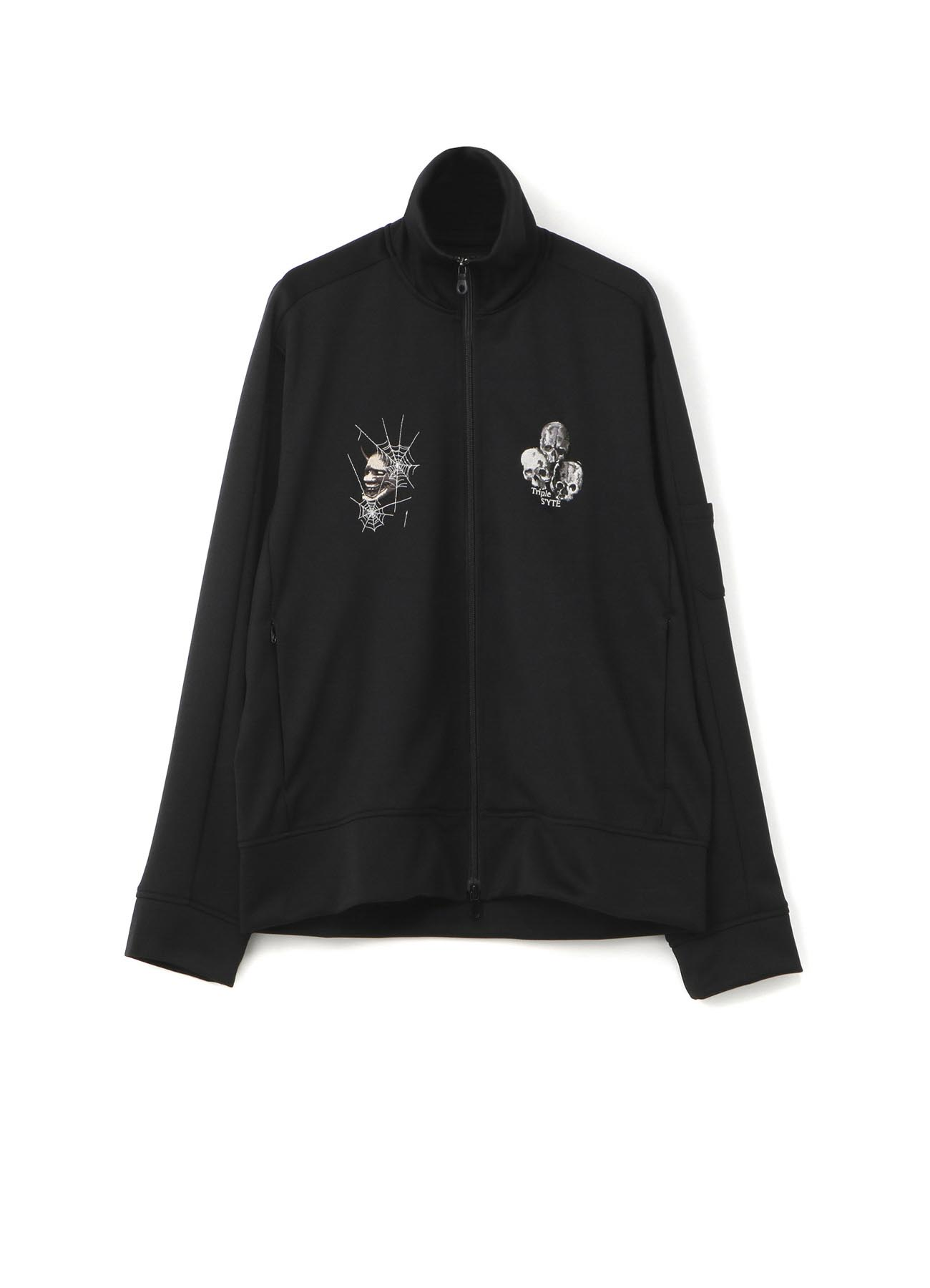 Pe/Smooth Jersey Mask of Hannya SpiderWeb Triple Skul Embroidery Track Jacket