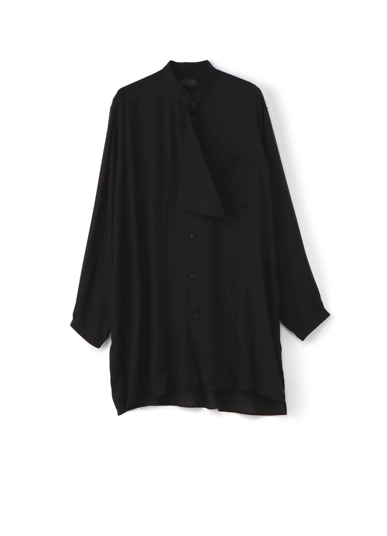 Tencel Vieira Drape Scarf Shirt