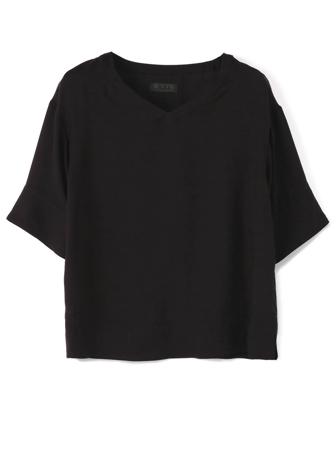 Tencel Vieira Half Sleeve V-neck Pullover