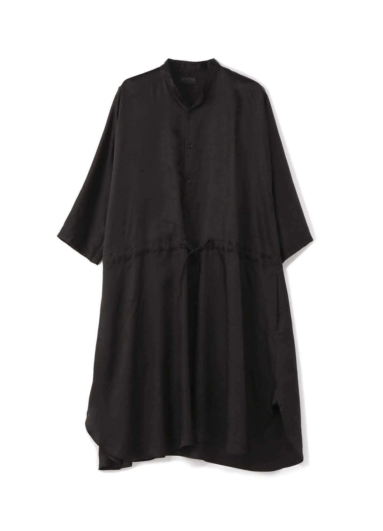 铜氨斜纹水洗西弦衬衫连衣裙