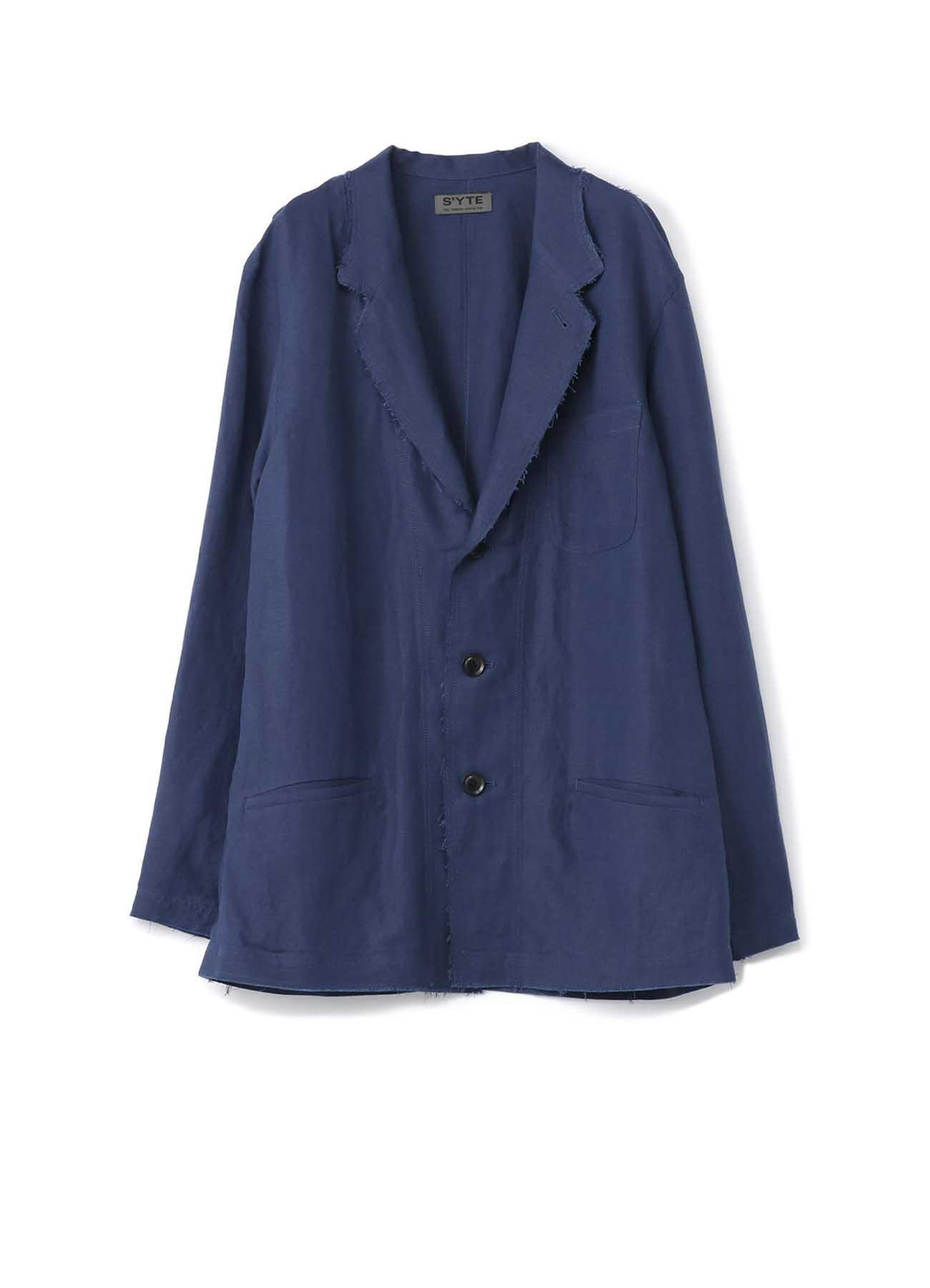 人造丝亚麻轻松交叉3BS量身定制衬衫夹克