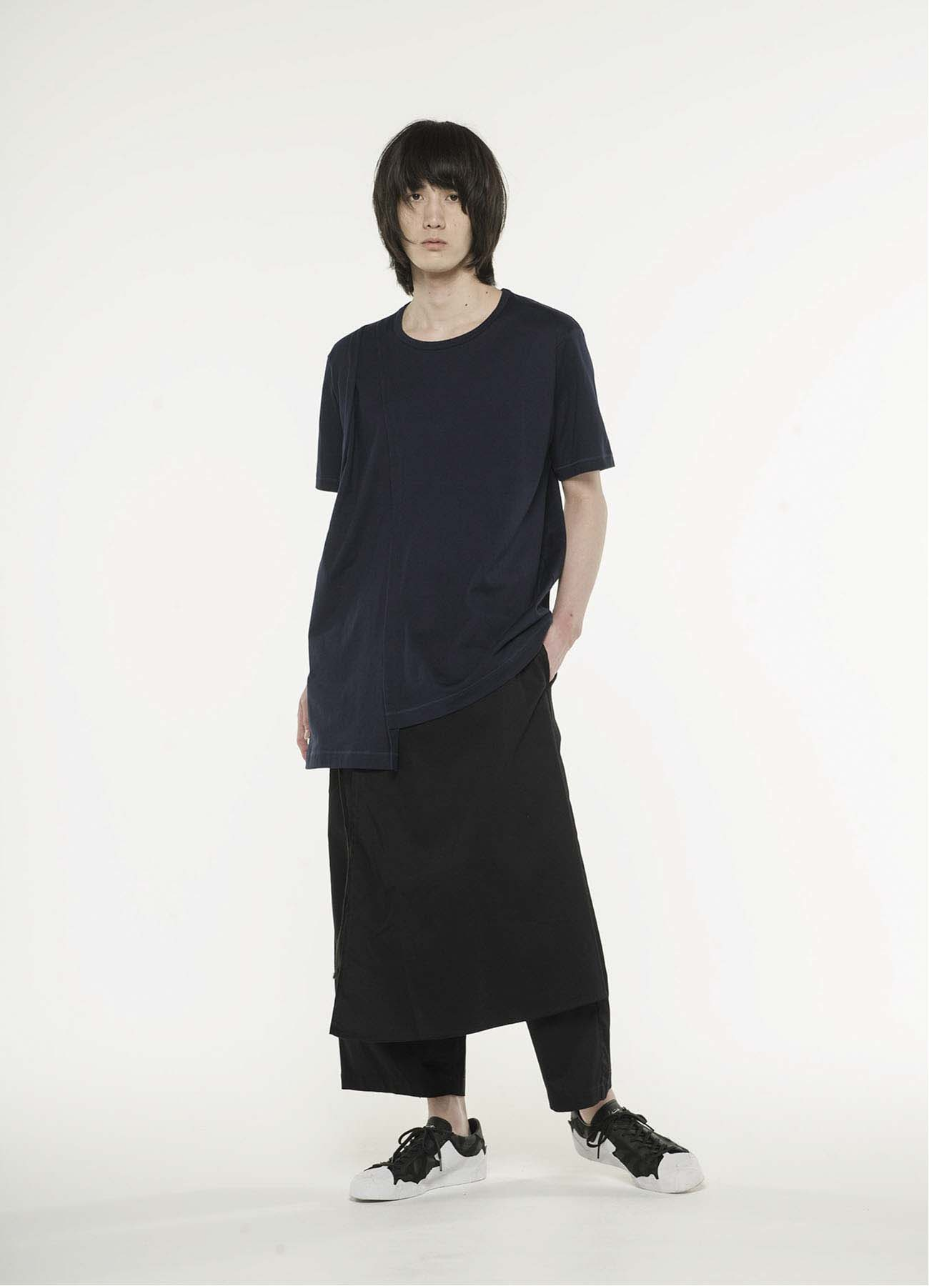 40/2 jersey Asymmetry drape T