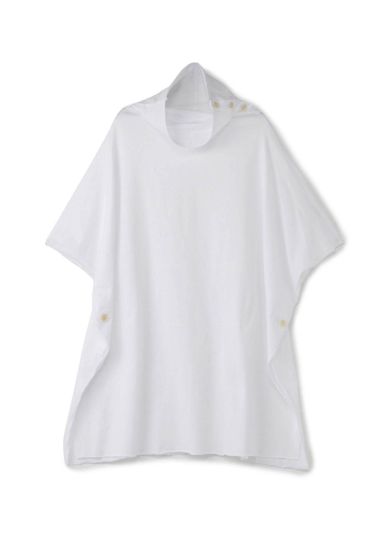 40/2纯棉平纹针织松高领雨披