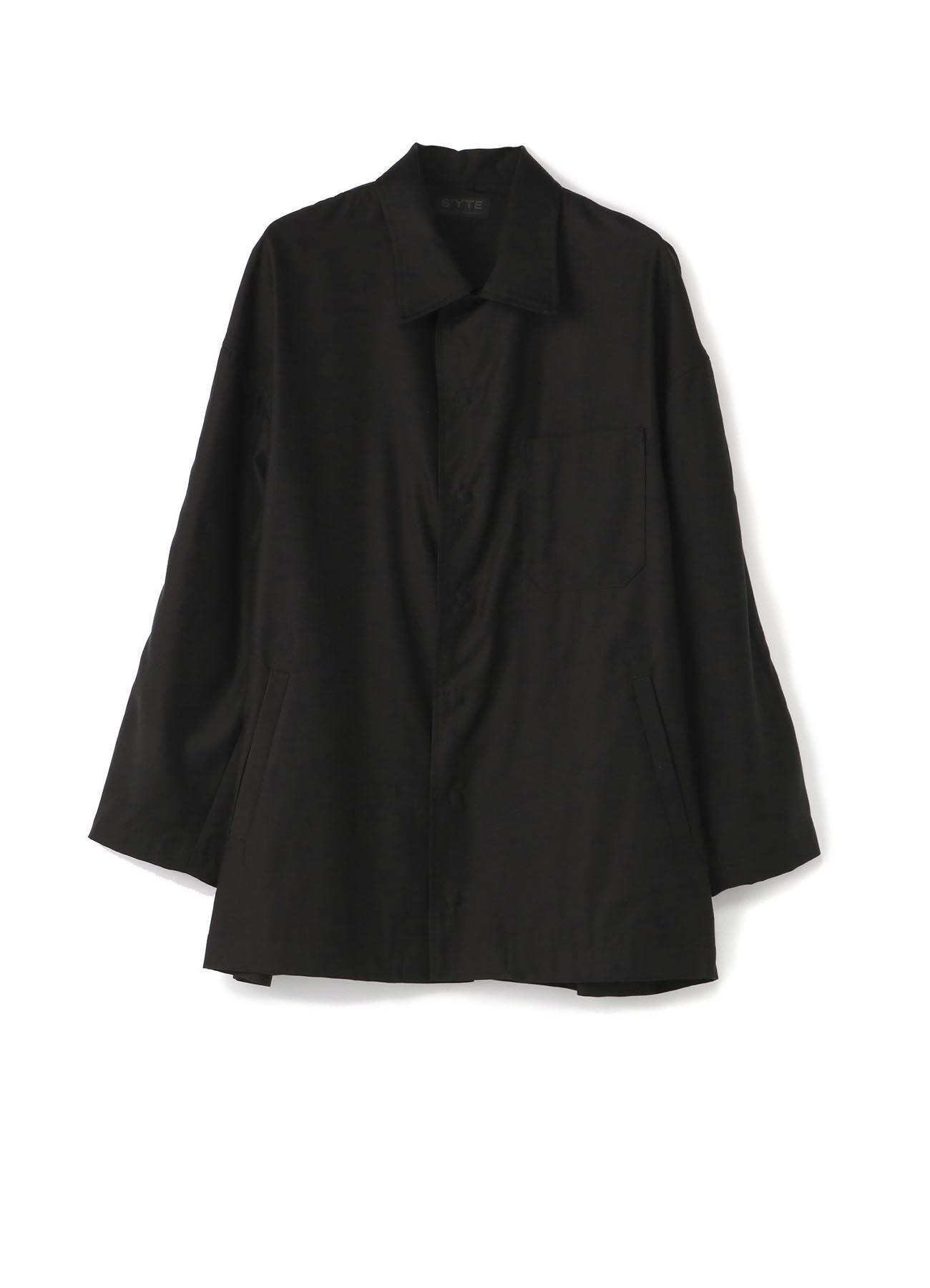 Pre Collection Tencel/Cotton Slab Back Satin Snap Button Blouson