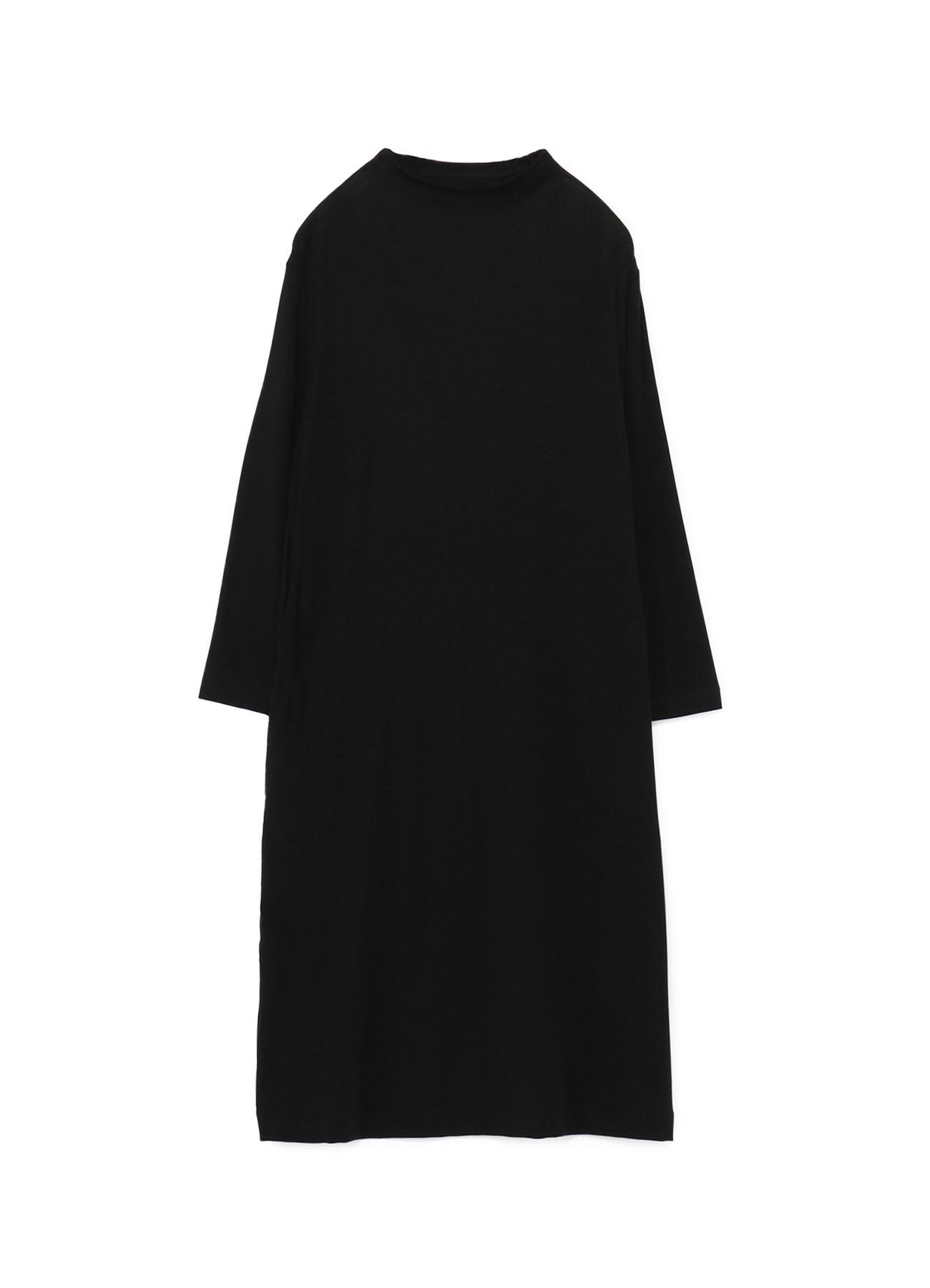 LYOCELL STRETCH RIB JERSEY BOTTLE NECK DRESS