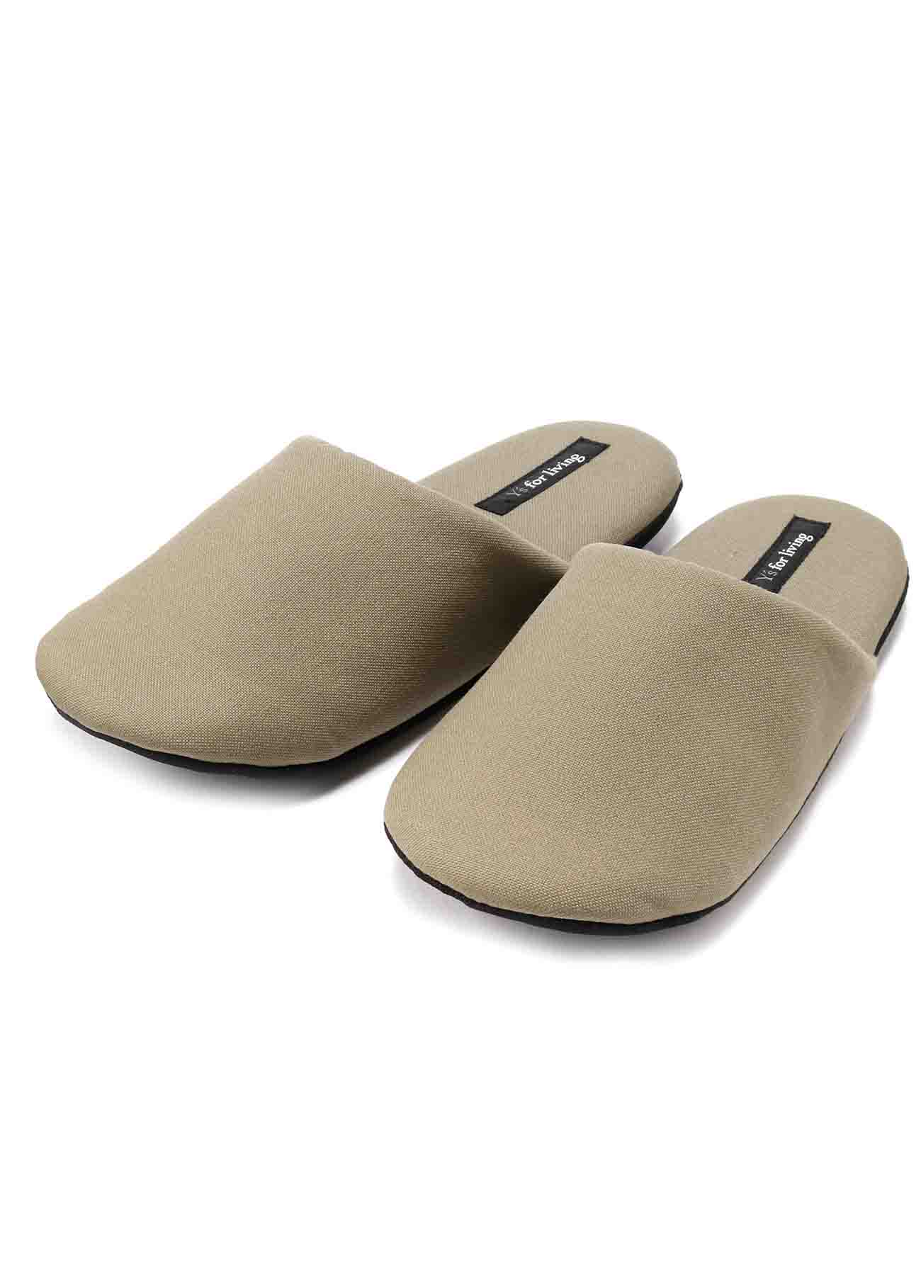 COTTON CANVAS SLIPPERS