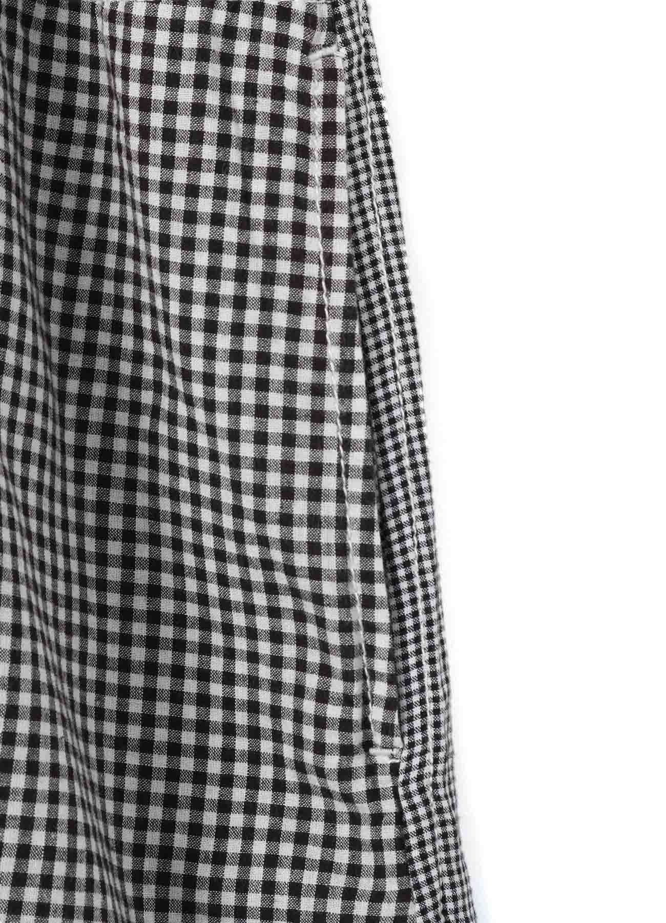GINGHAM CHECK & COTTON VOILE DRESS