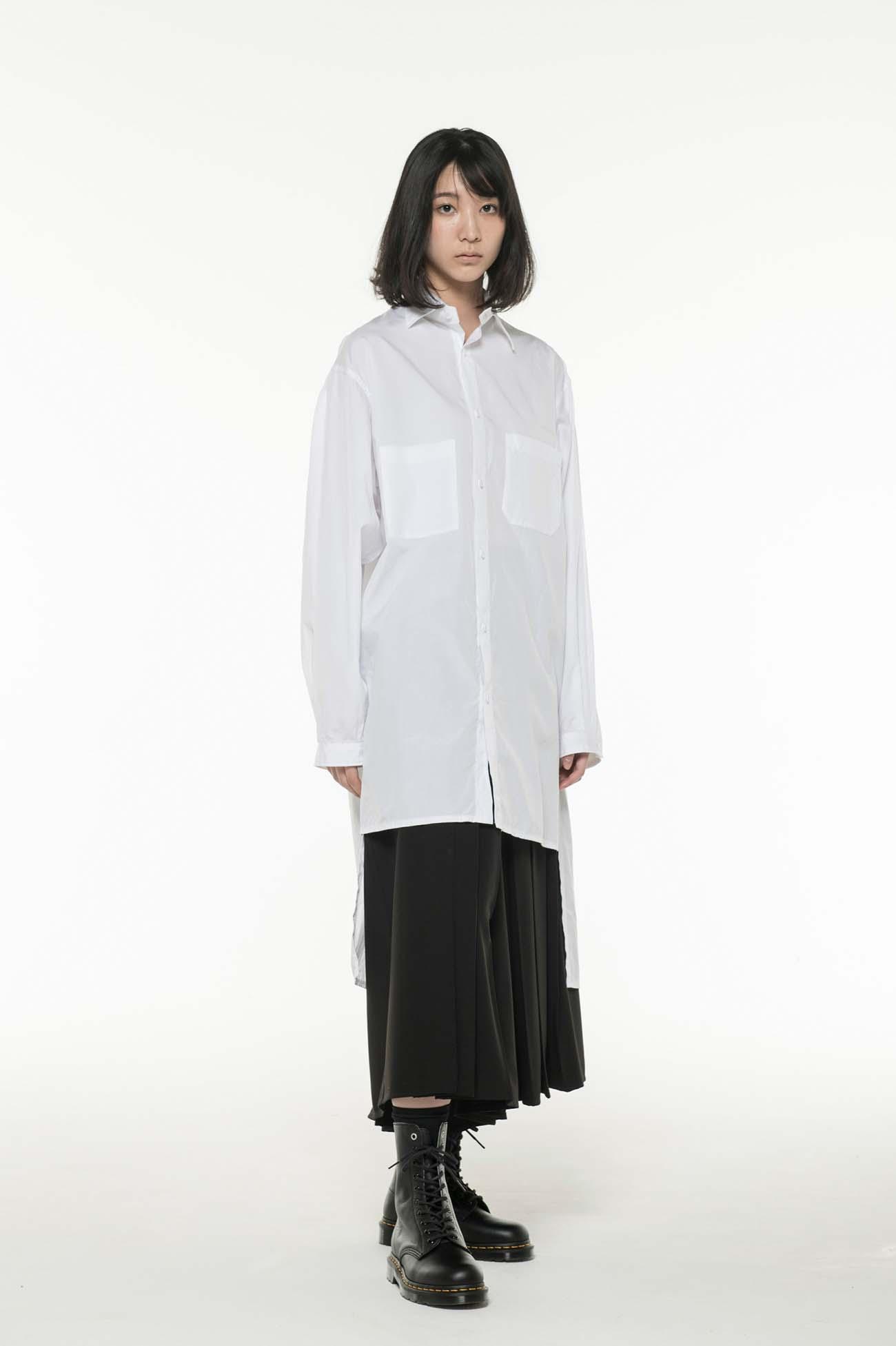 Y's BANG ON!No.3 Asymmetry Shirt Cotton broad