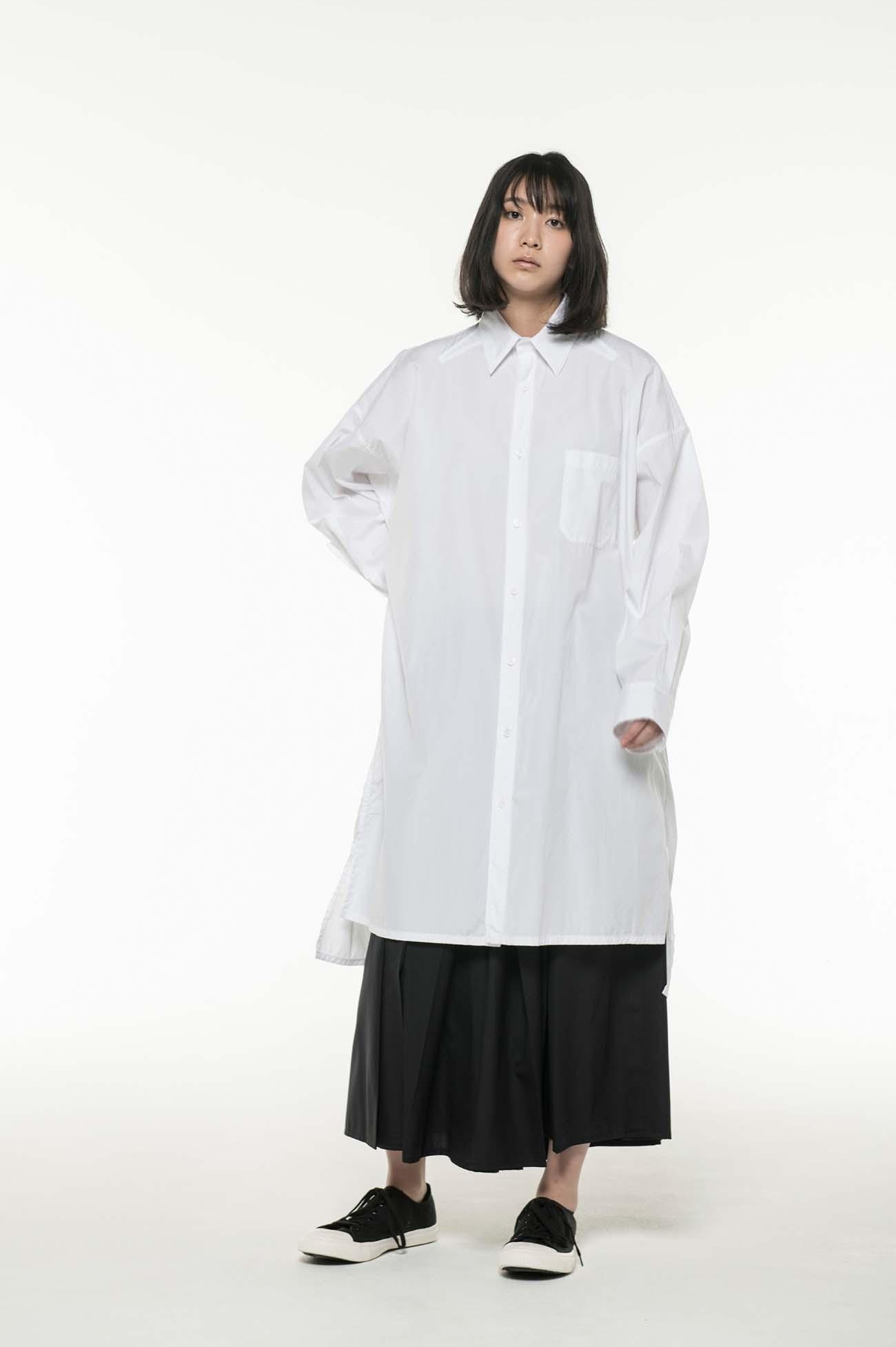 Y's BANG ON!No.4 Big silhouette Shirt Cotton broad